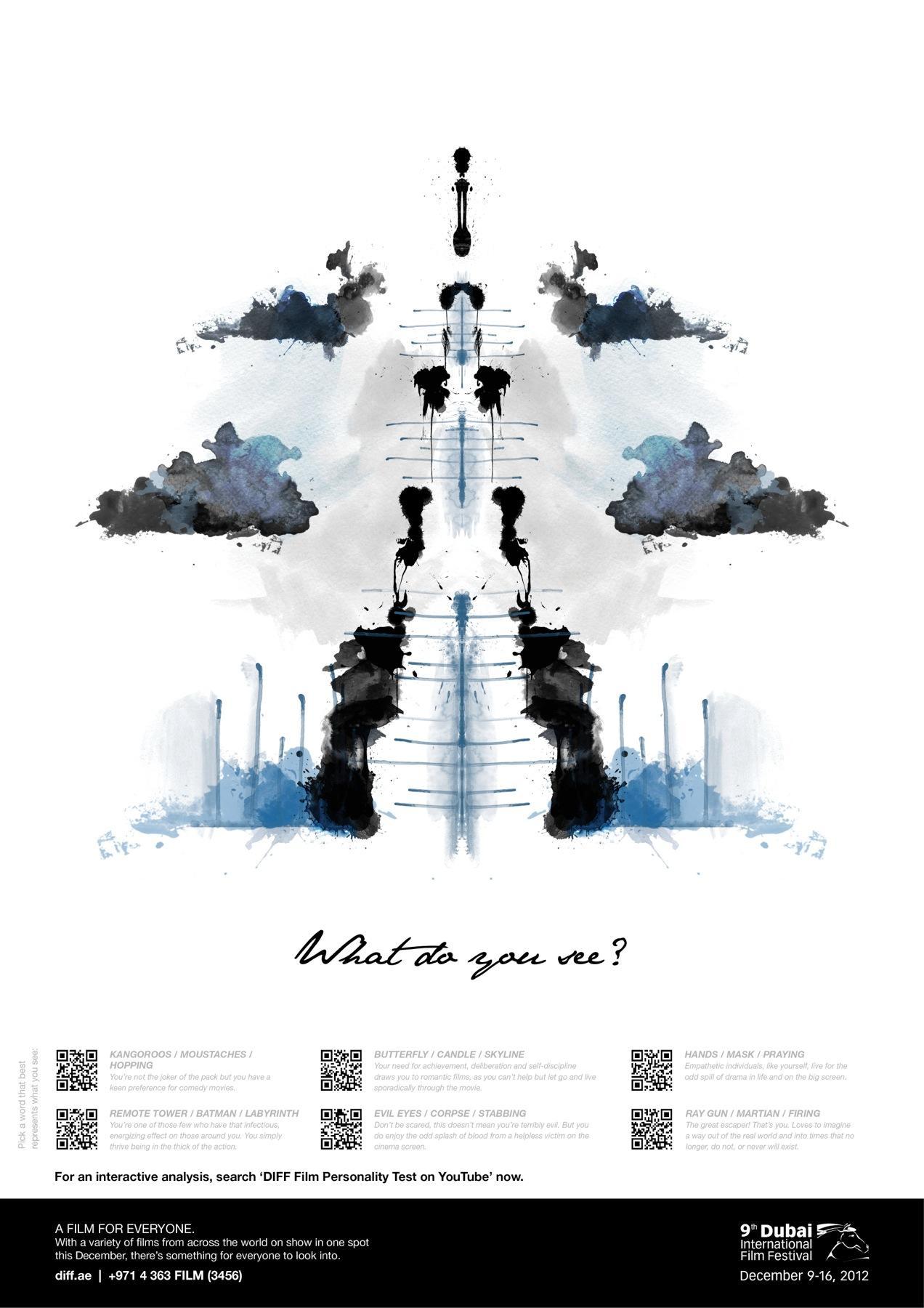 Dubai International Film Festival Outdoor Ad -  What do you see, 9