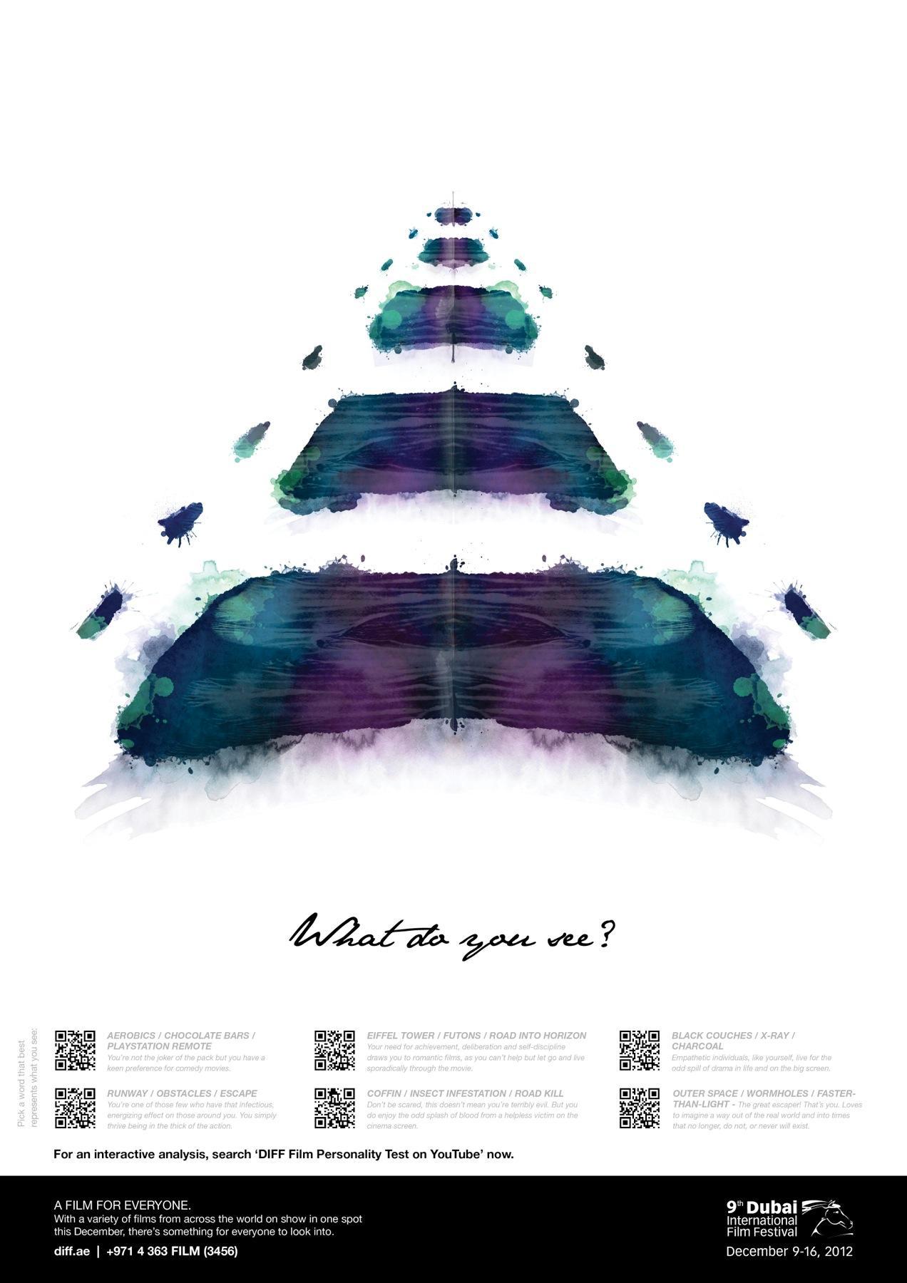 Dubai International Film Festival Outdoor Ad -  What do you see, 10