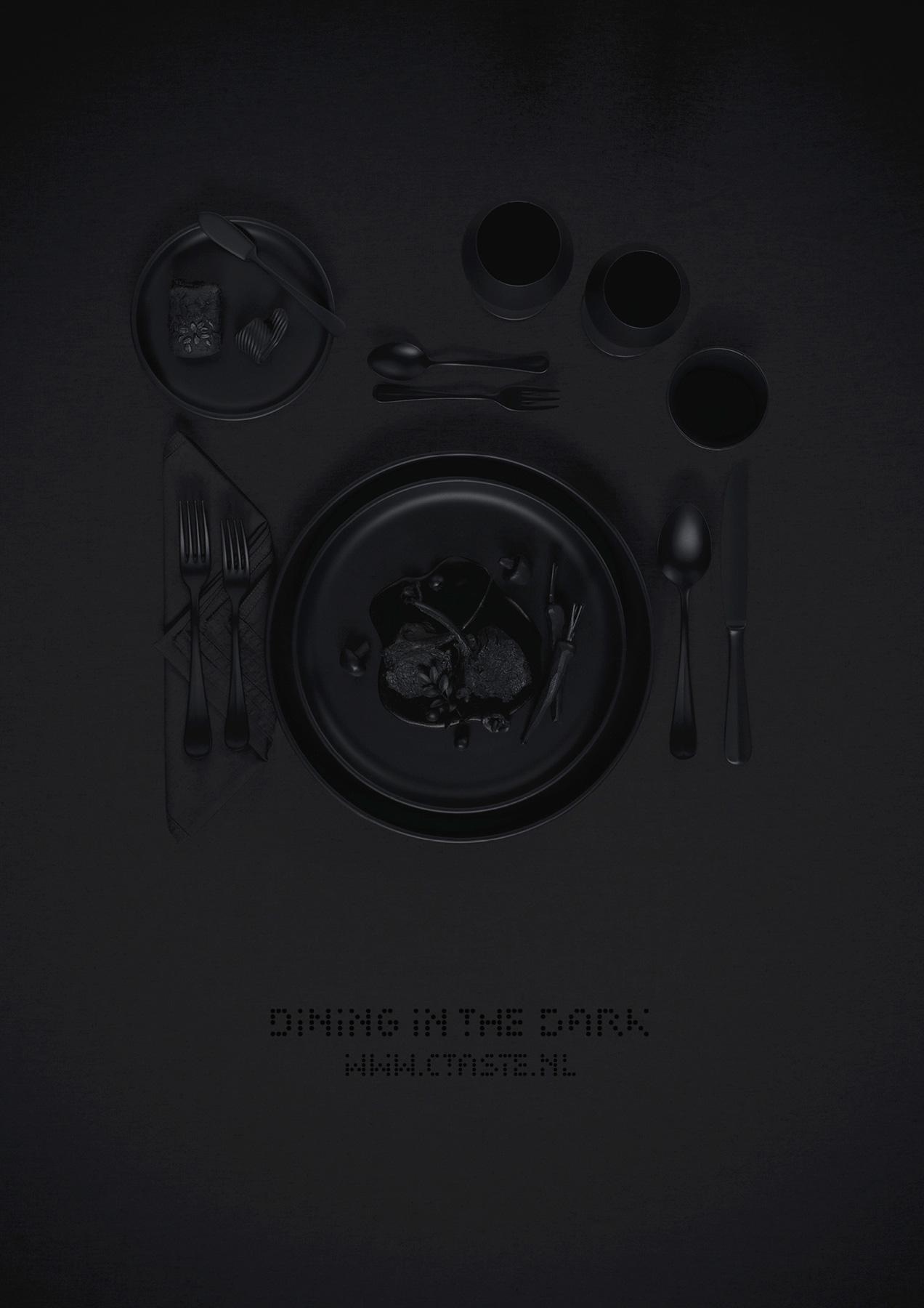 Ctaste Print Ad -  Dining in the dark