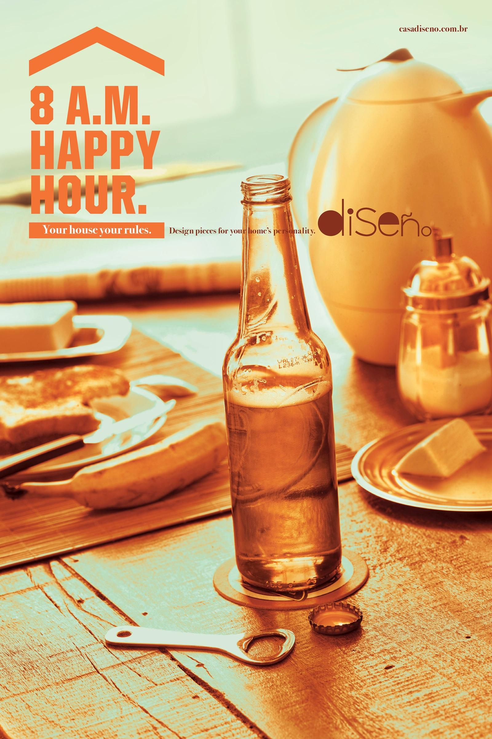 Diseño Print Ad -  Happy hour