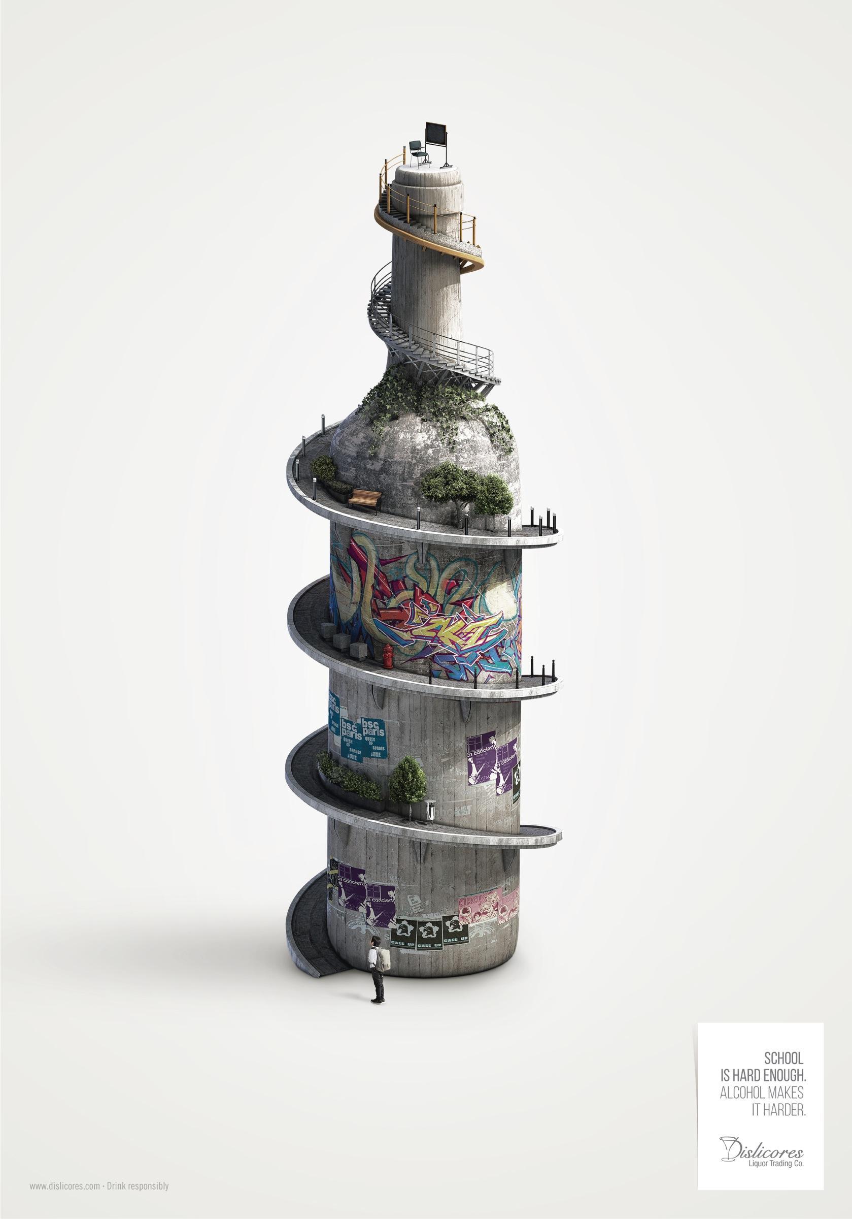 Dislicores Print Ad -  School