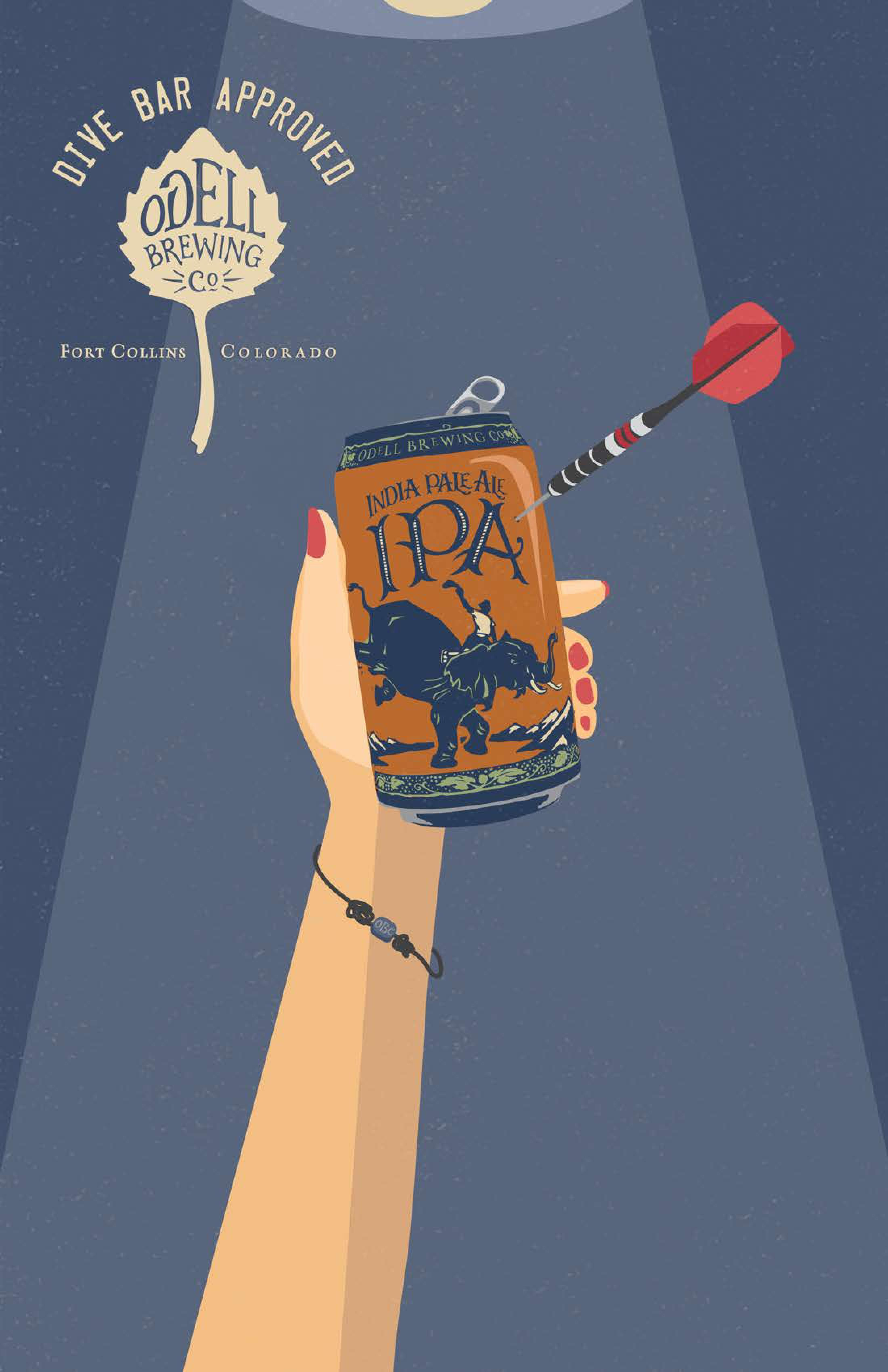 Odell Brewing Co Print Ad - Odell IPA Day - Dive Bar