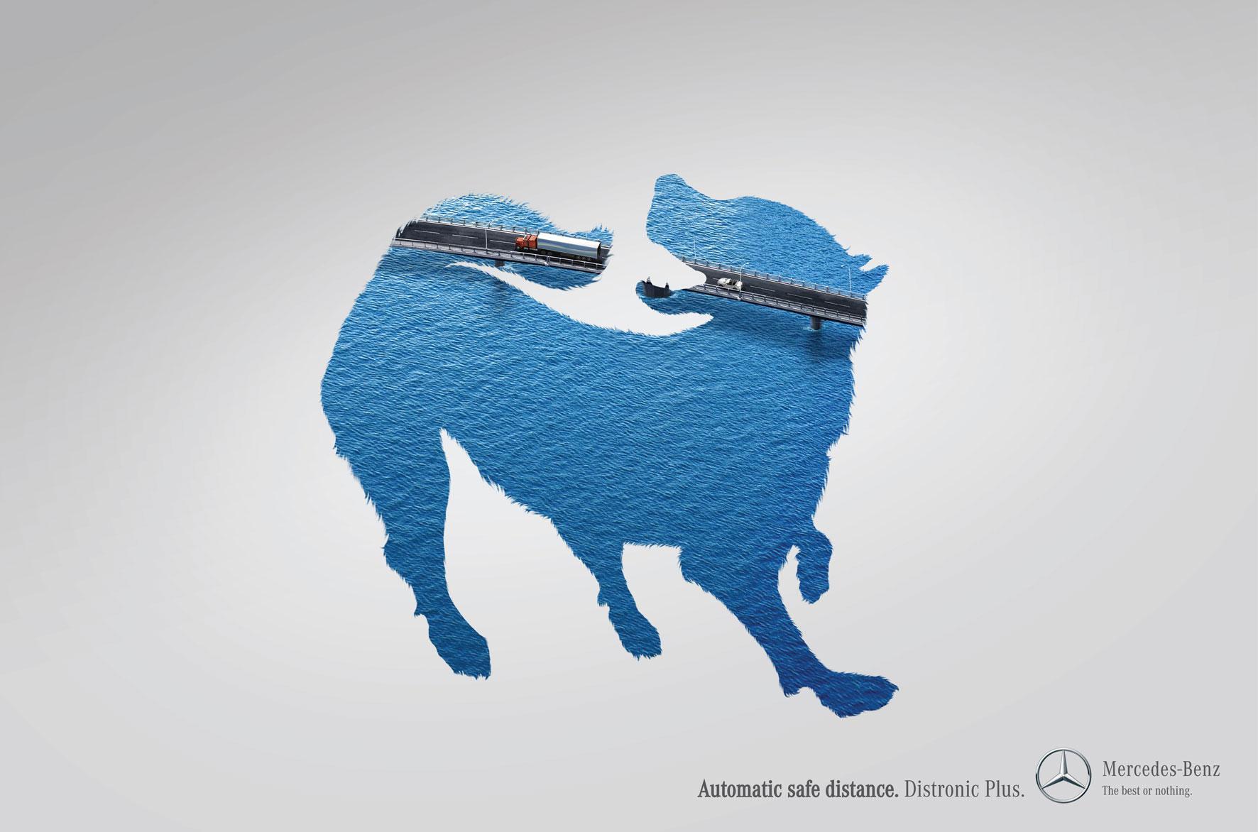 Mercedes Print Ad -  Dog