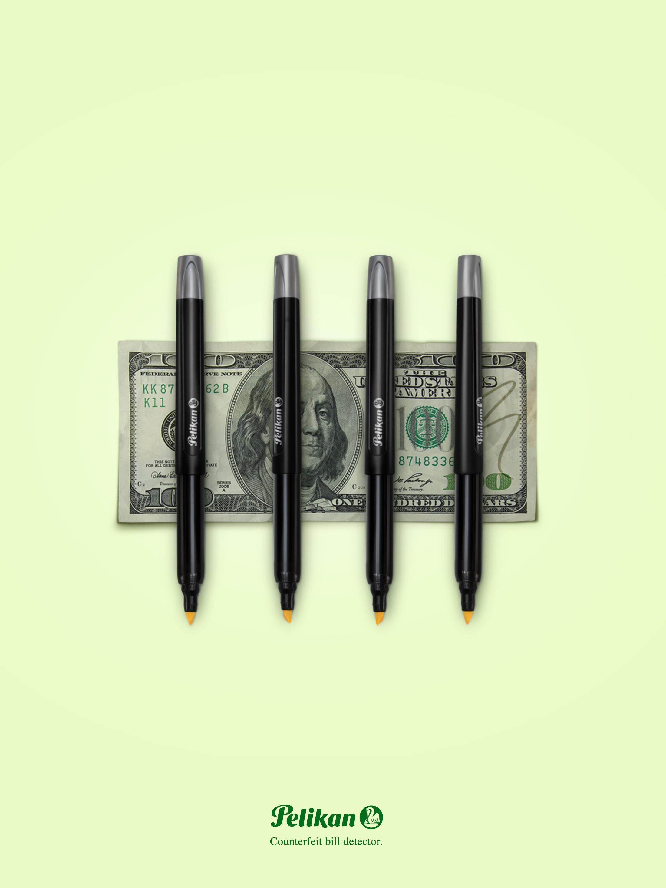 Pelikan Print Ad - Bills detector - Dollar
