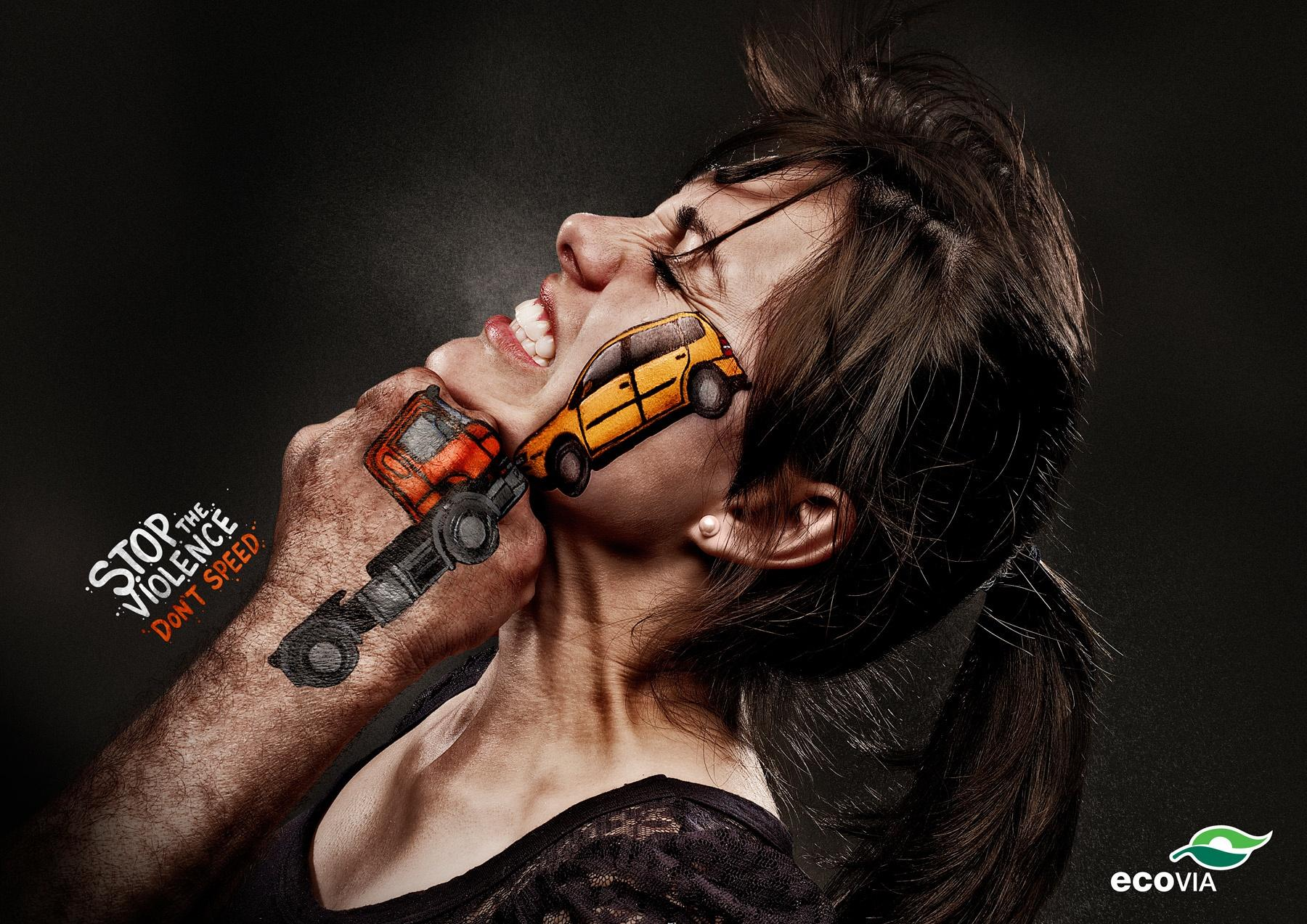 Ecovia Print Ad -  Stop the Violence, Don't speed