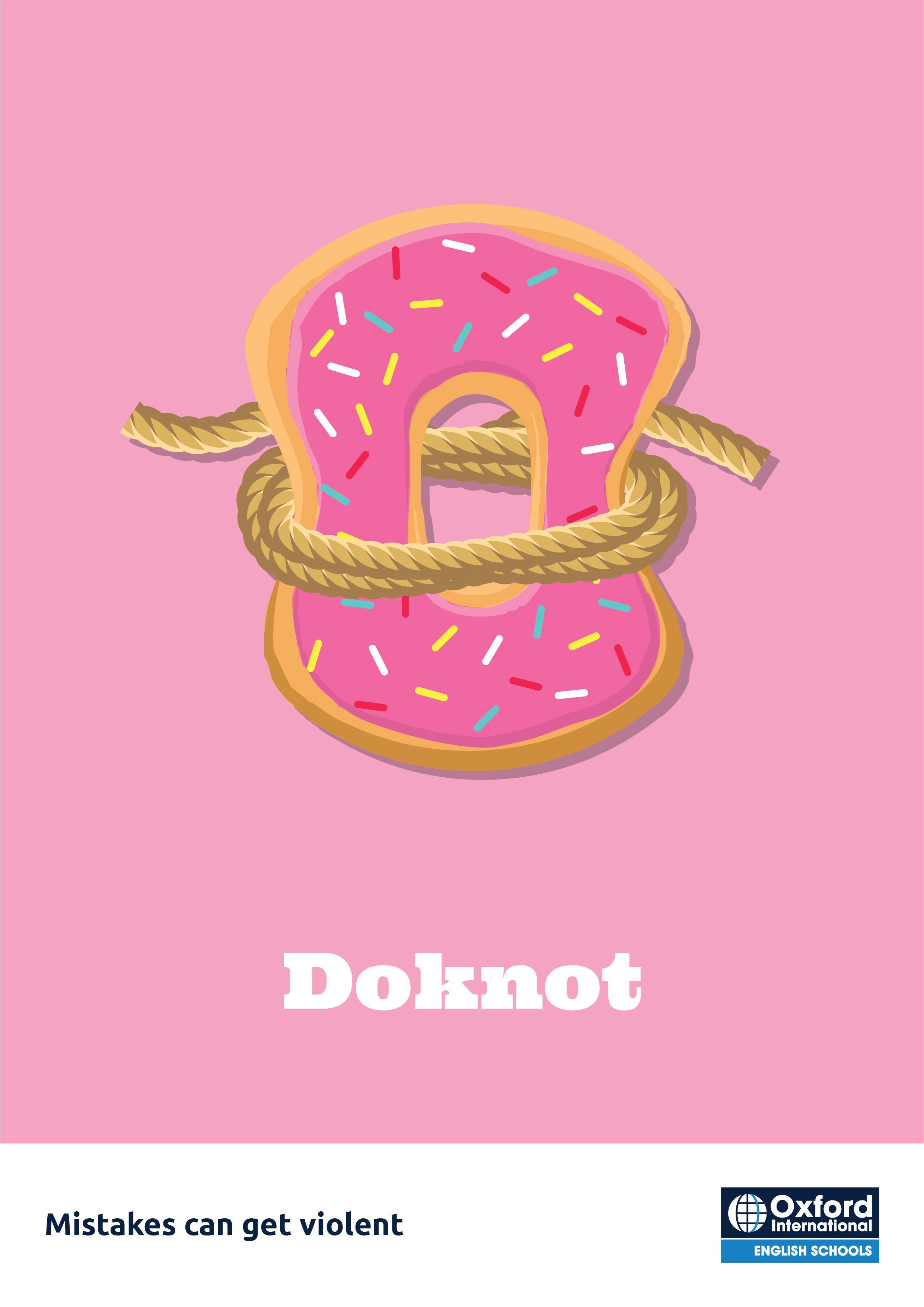 Oxford International English Schools Print Ad - Donut
