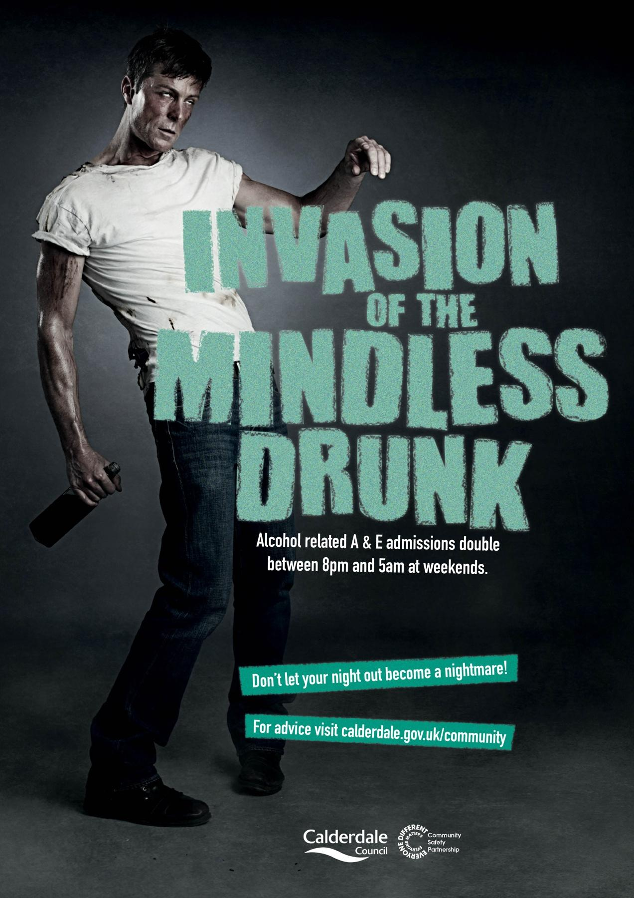 Calderdale Council Print Ad -  Drink and Drug Awareness Campaign, 3