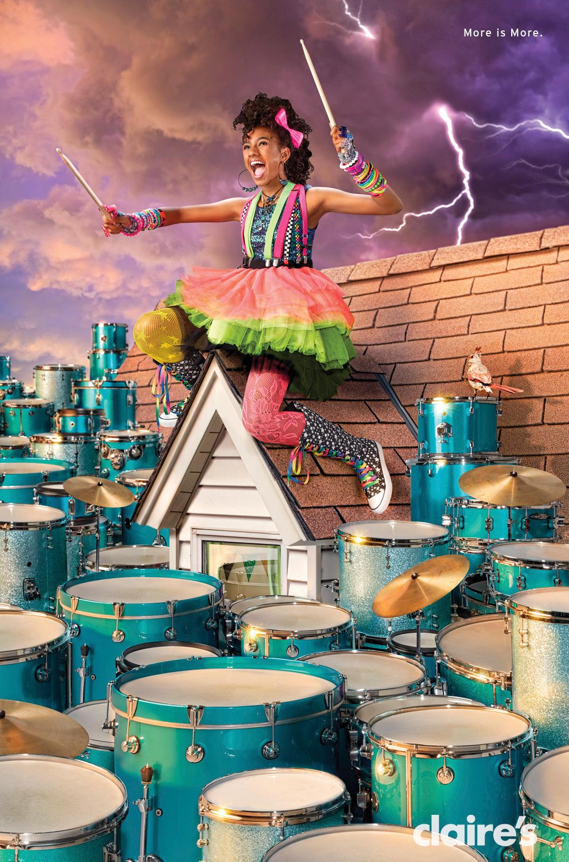 Claire's Outdoor Ad -  Drums