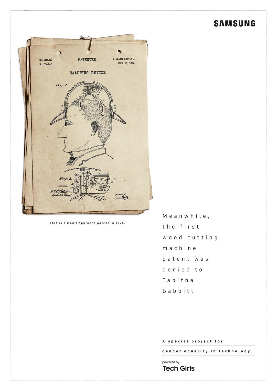 Samsung Print Ad - Dumb Patents - Saluting Device