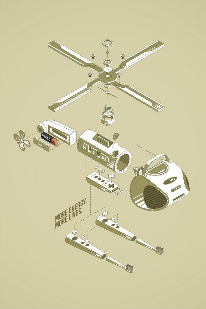 Duracell Print Ad -  Helicopter