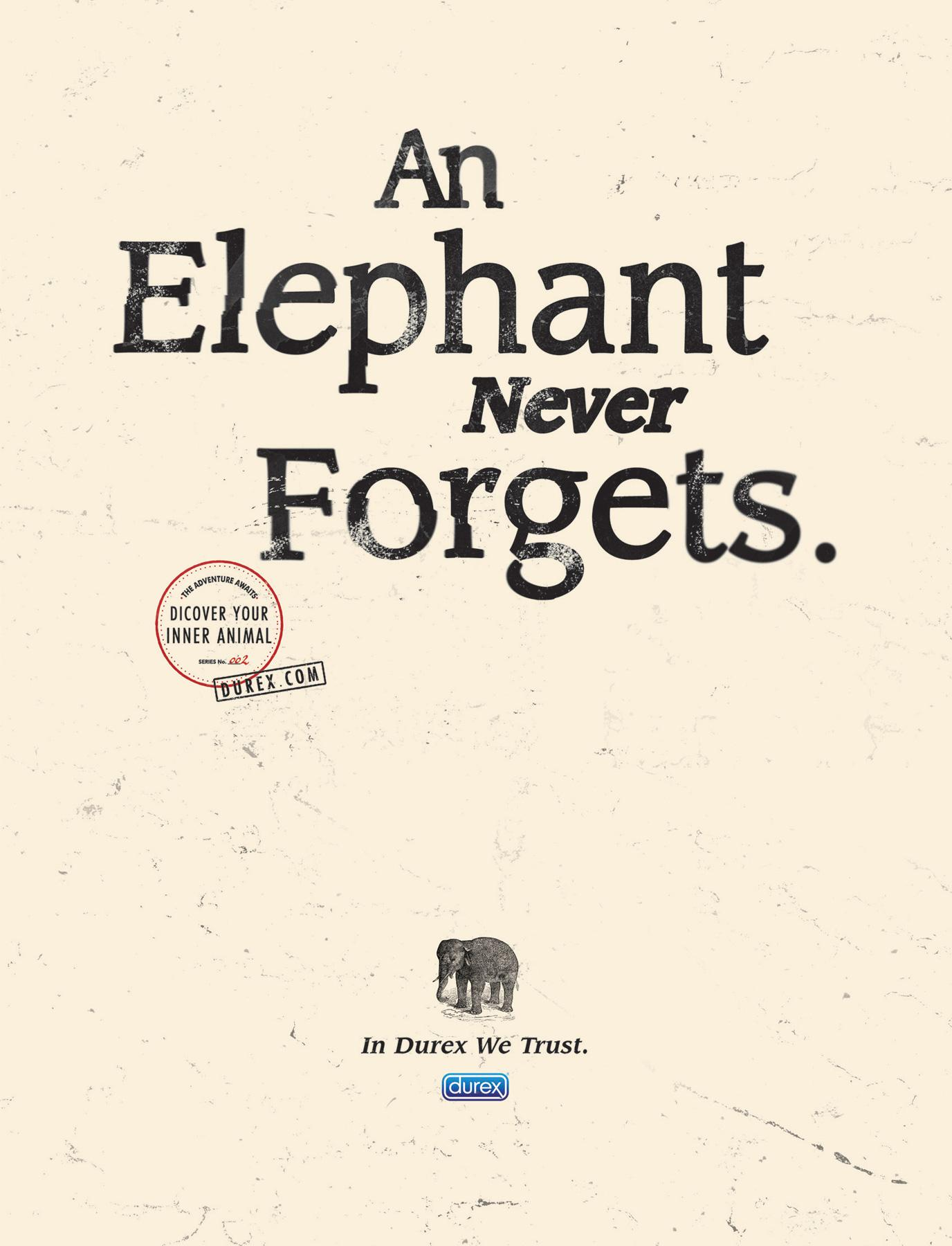 Durex Print Ad -  Elephant
