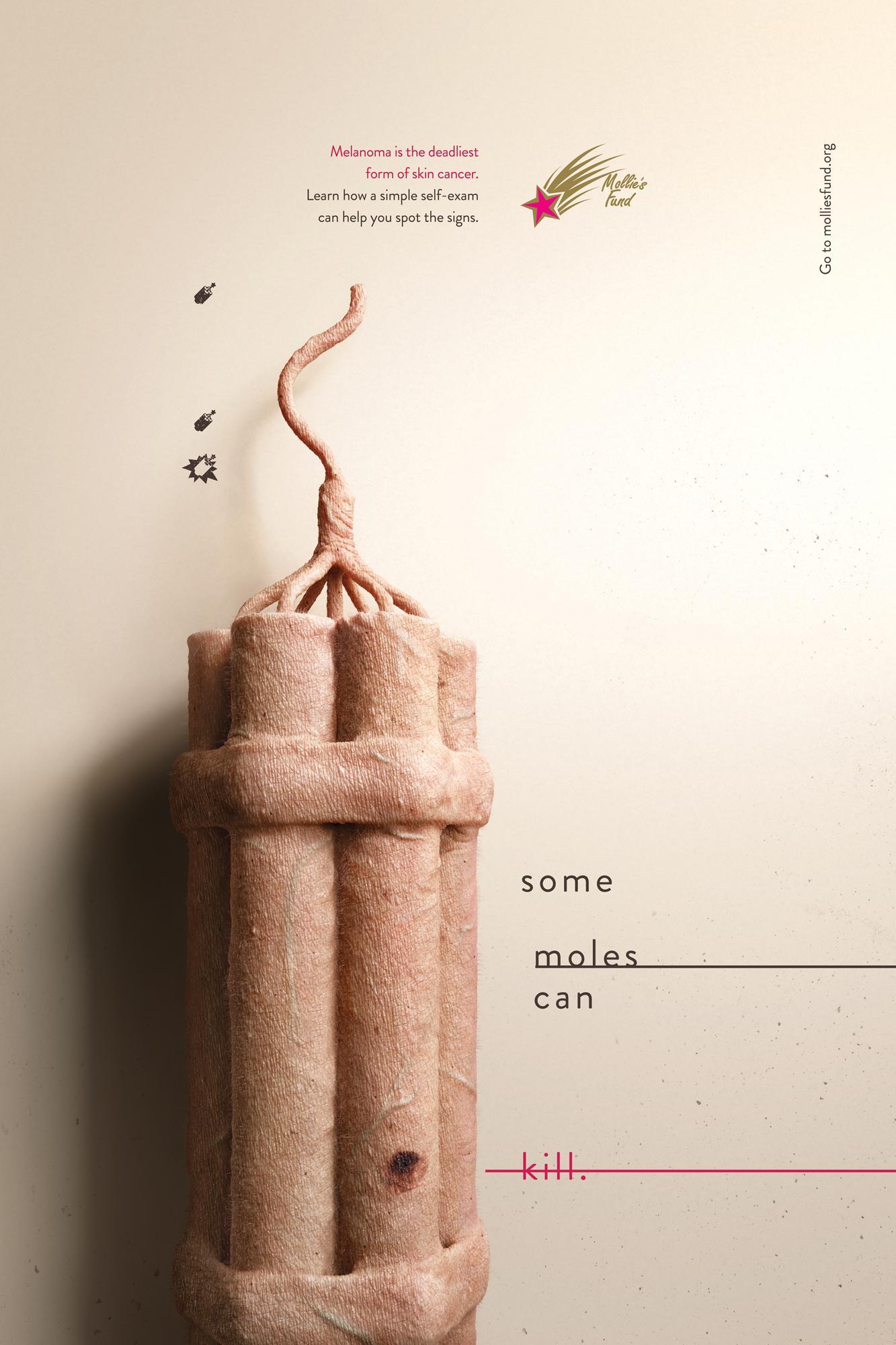 Mollie's Fund Print Ad - Skin Bombs - Dynamite