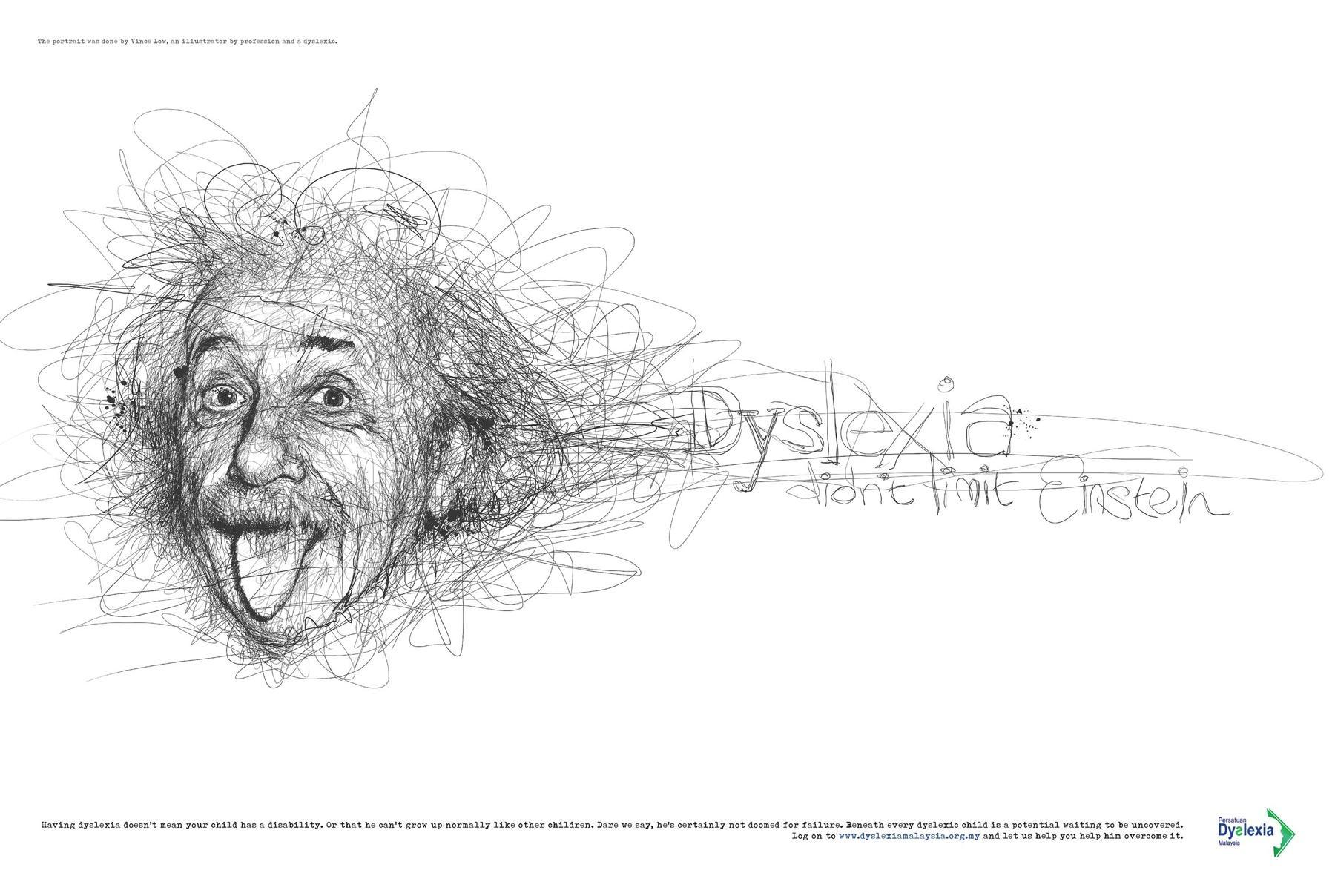 Dyslexia Association Print Ad -  Einstein