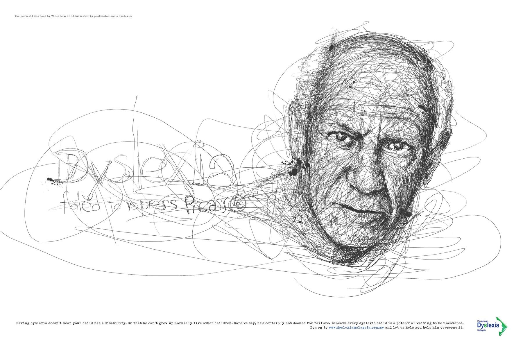 Dyslexia Association Print Ad -  Picasso