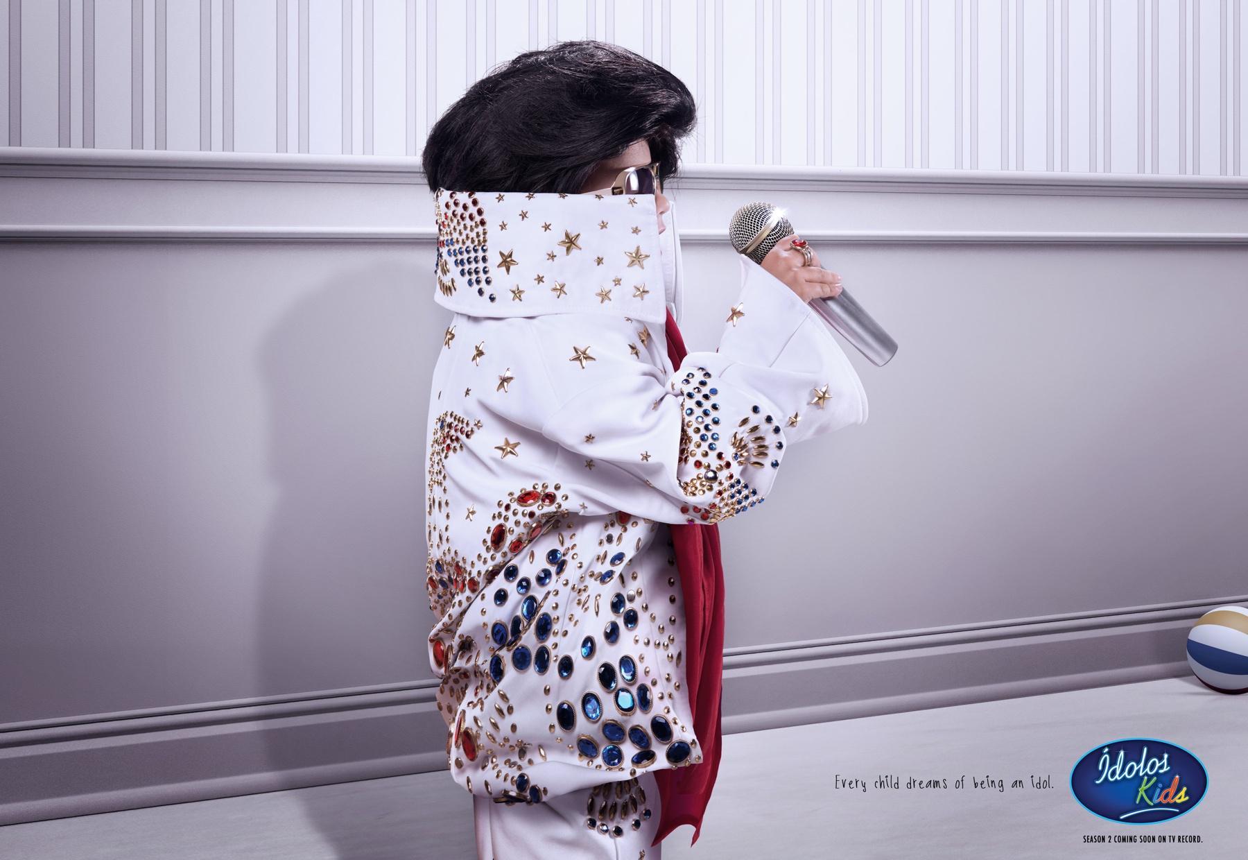 Ídolos Kids Print Ad -  Child / Elvis