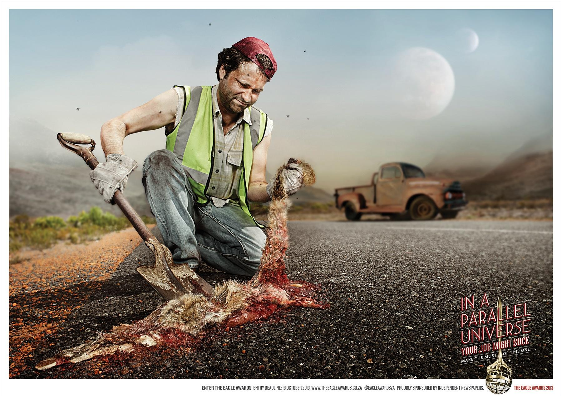 Eagle Print Awards Print Ad -  Roadkill