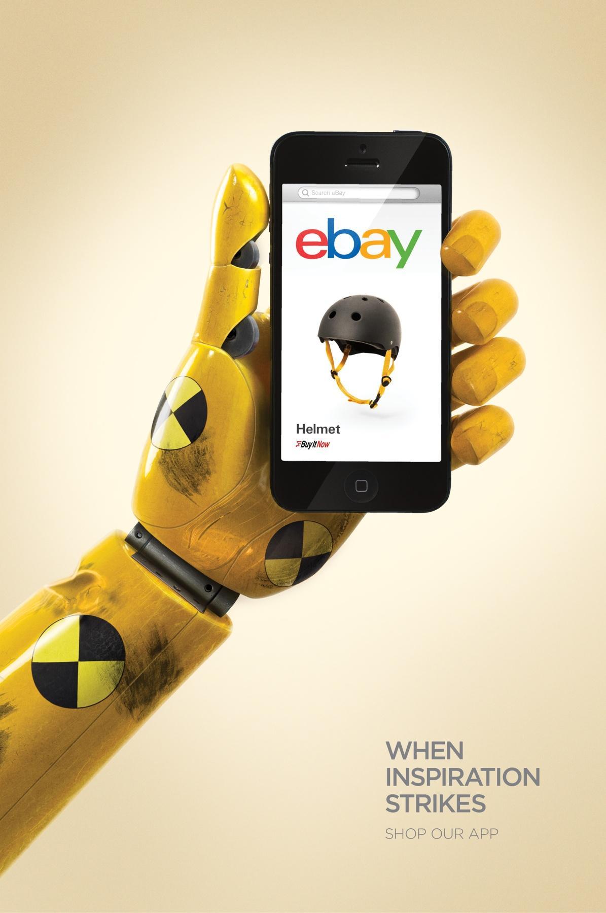 ebay Print Ad -  Helmet