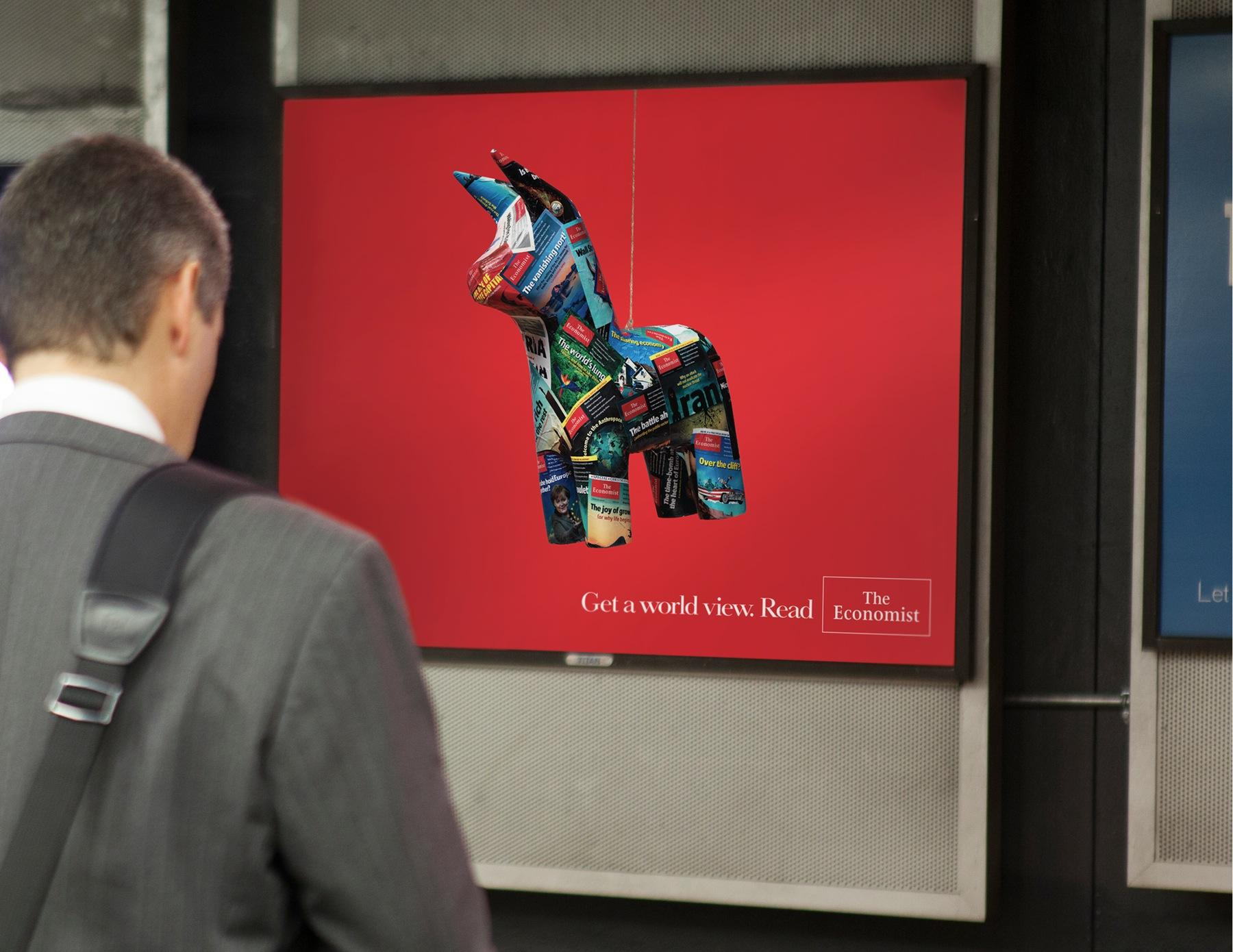 The Economist Outdoor Ad -  Piñata