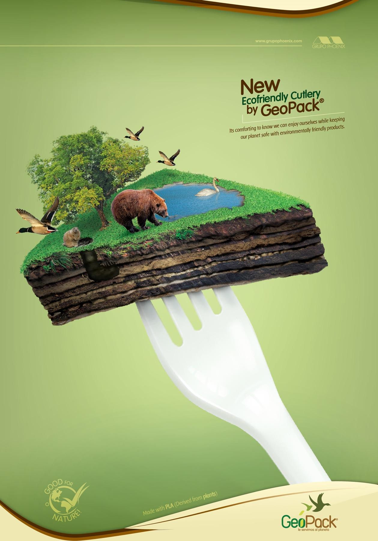 GeoPack Print Ad -  Fork