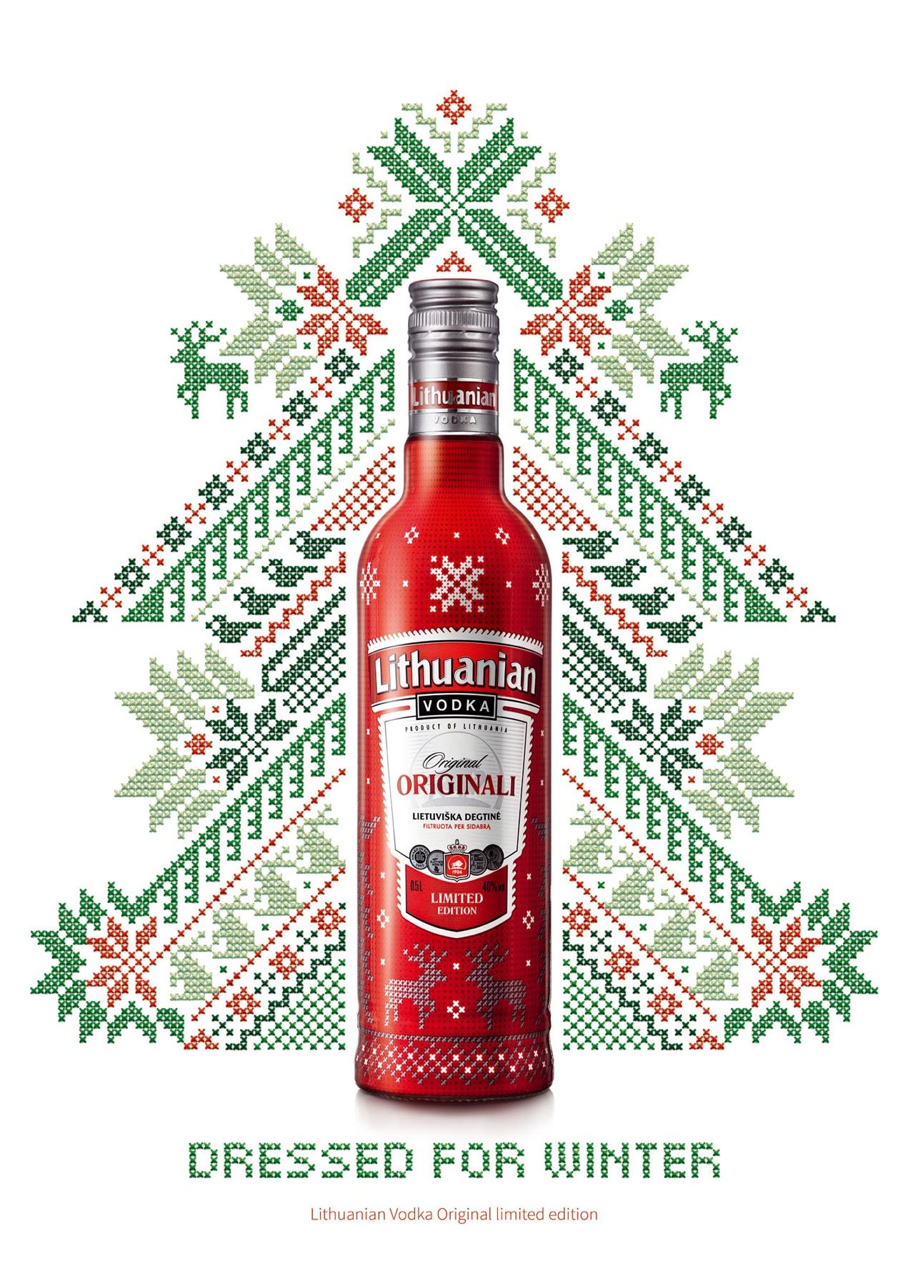 Lithuanian Vodka Print Ad -  Winter edition