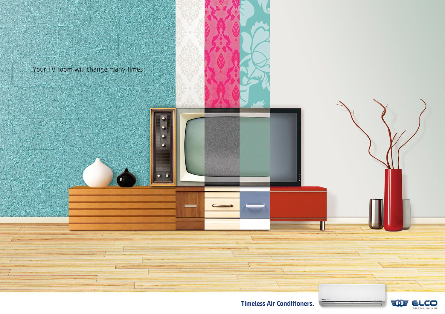 ELCO Premium Air Print Ad -  TV room