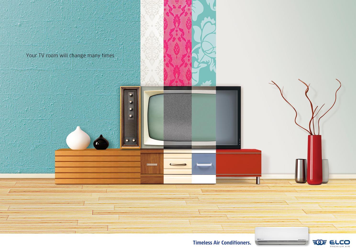 ELCO Premium Air Print Ad -  TV room