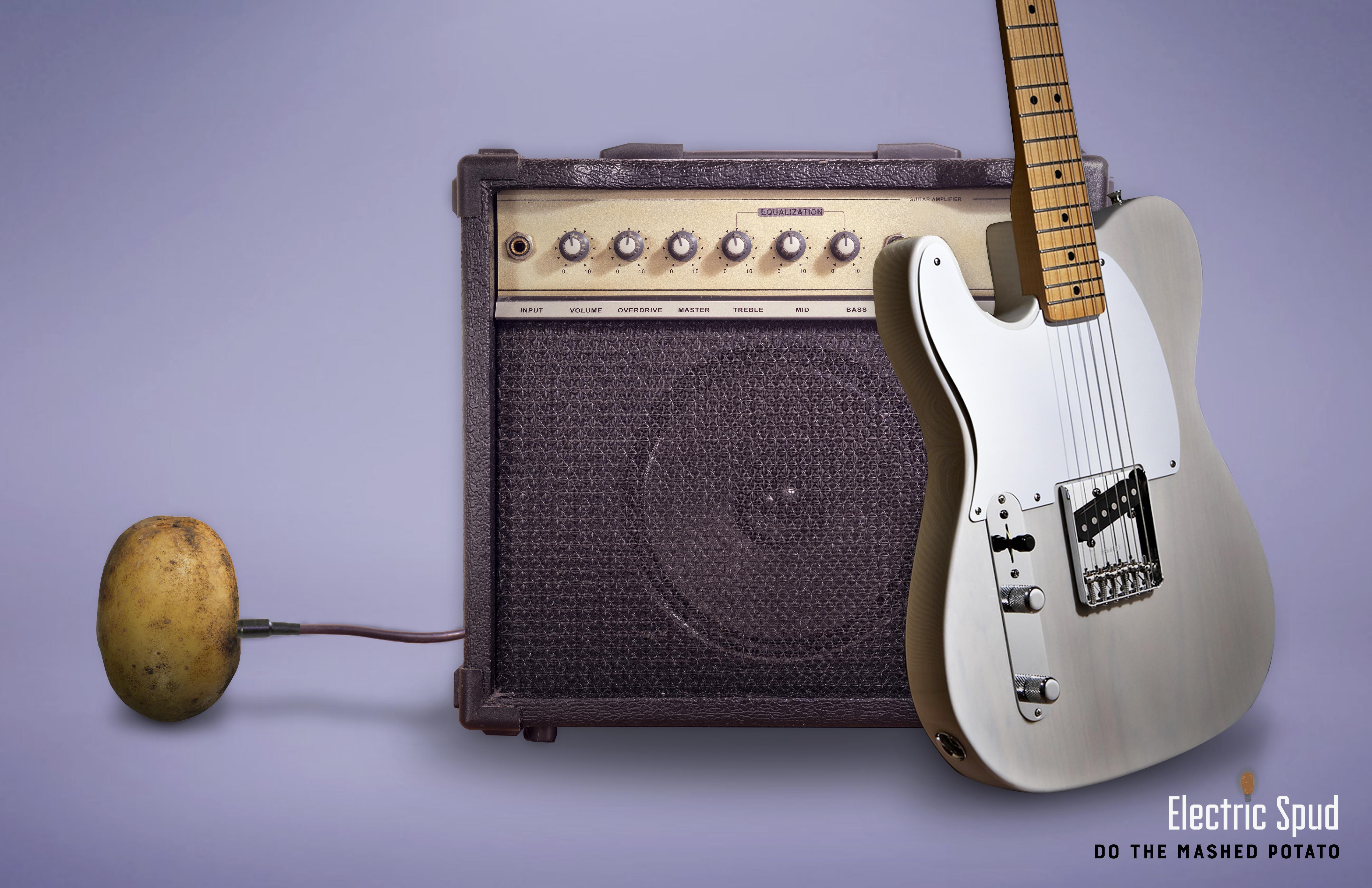 Electric Spud Print Ad - Rock & Roll