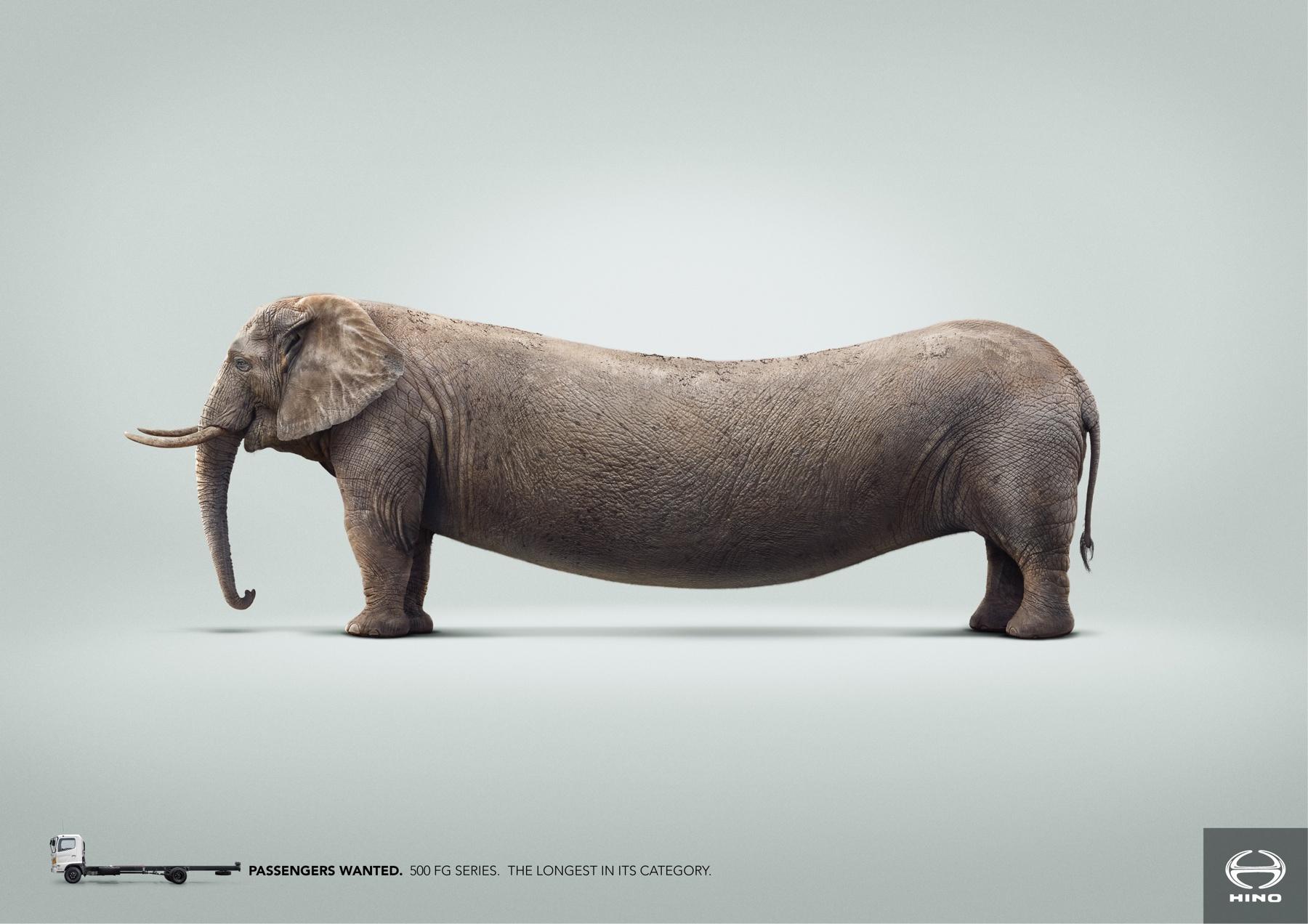 Hino Print Ad -  Elephant