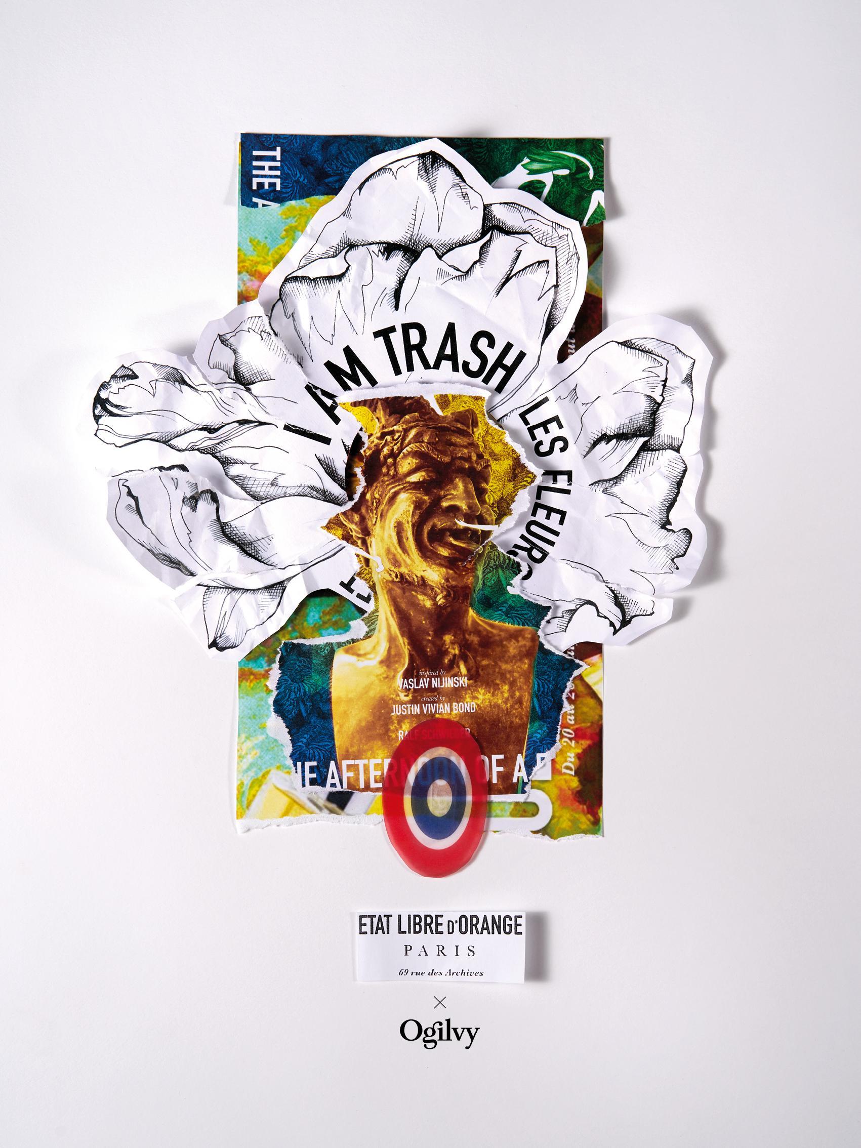 Etat Libre d'Orange Outdoor Ad - I am Trash, Les fleurs du Déchet