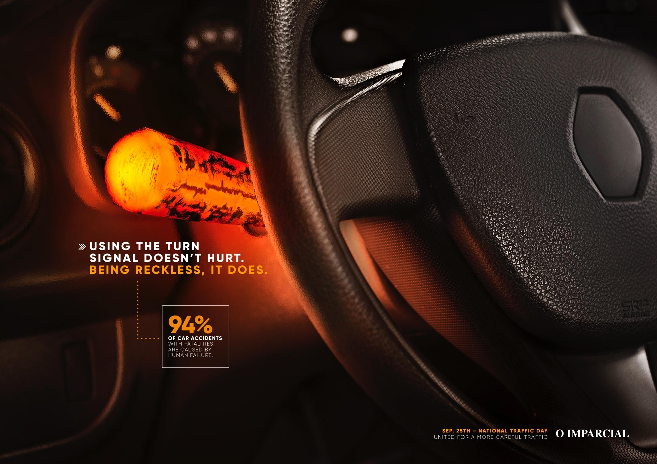 O Imparcial Print Ad - The Turn Signal Doesn't Hurt - Ember
