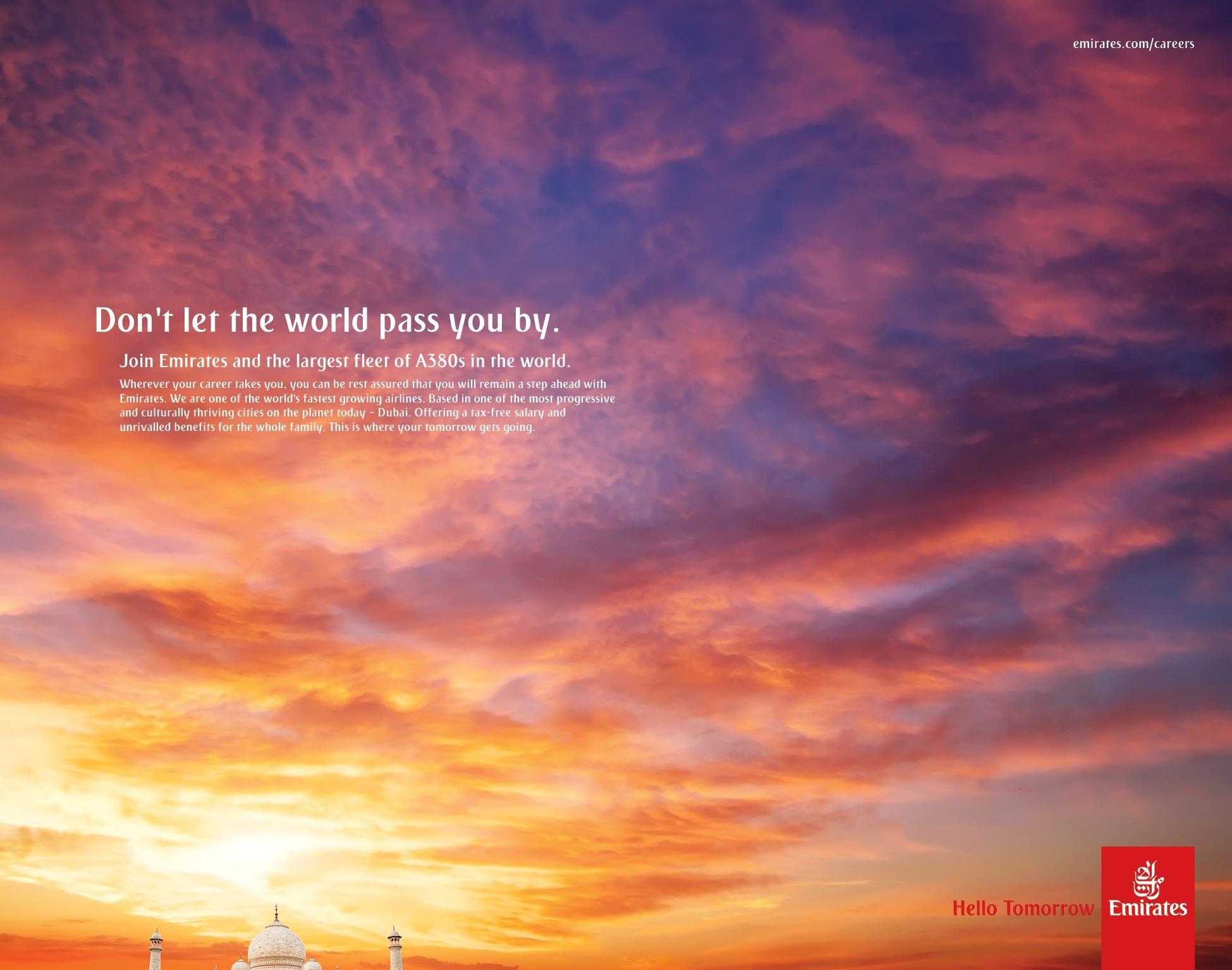 Emirates Print Ad -  Agra