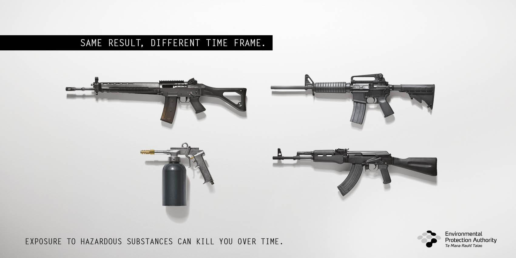 Environmental Protection Authority Print Ad -  Rifles