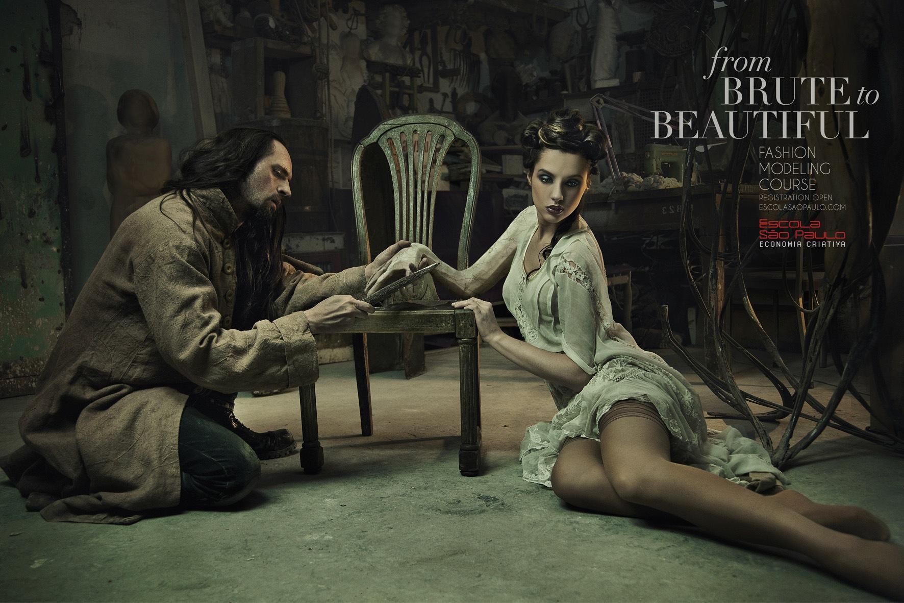 Escola Sao Paulo Print Ad -  From brute to beautiful, 2