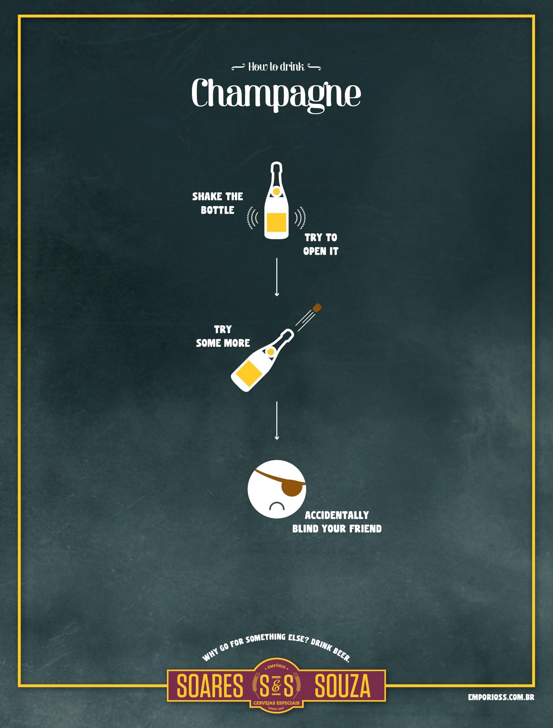 Emporio Soares & Souza Print Ad -  Champagne