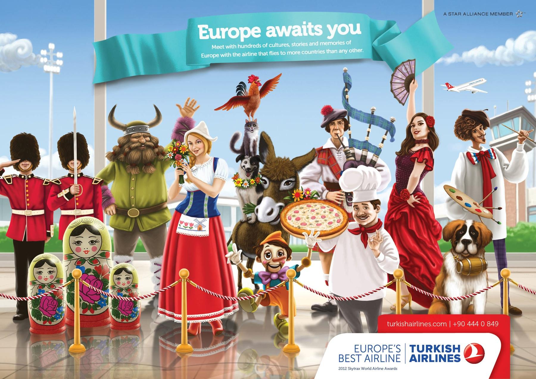 Turkish Airlines Print Ad -  Europe
