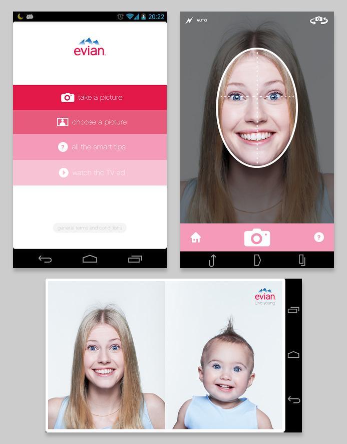 Evian Digital Ad -  Baby&Me app