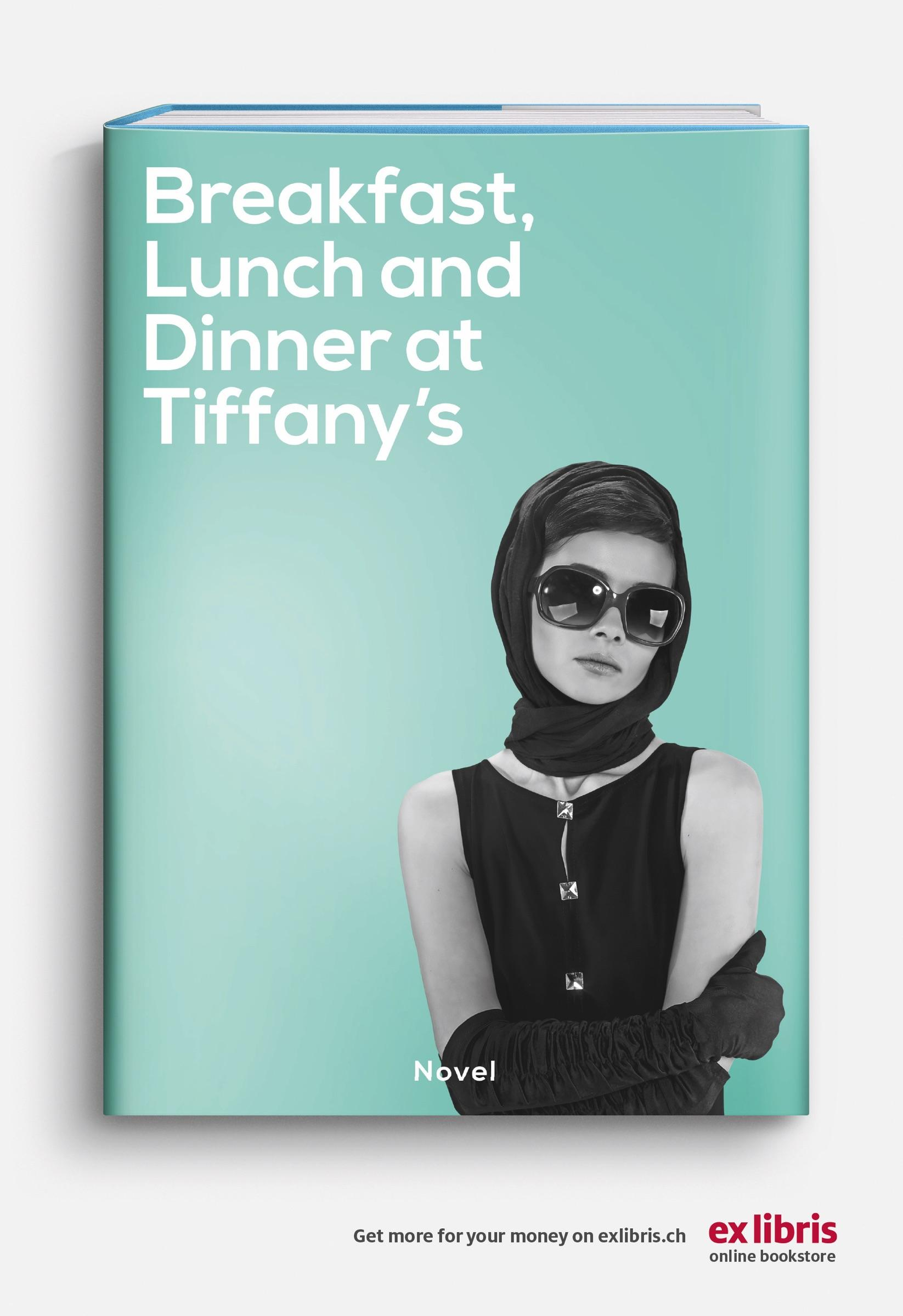 Ex Libris Print Ad - Breakfast, Lunch And Dinner At Tiffany's