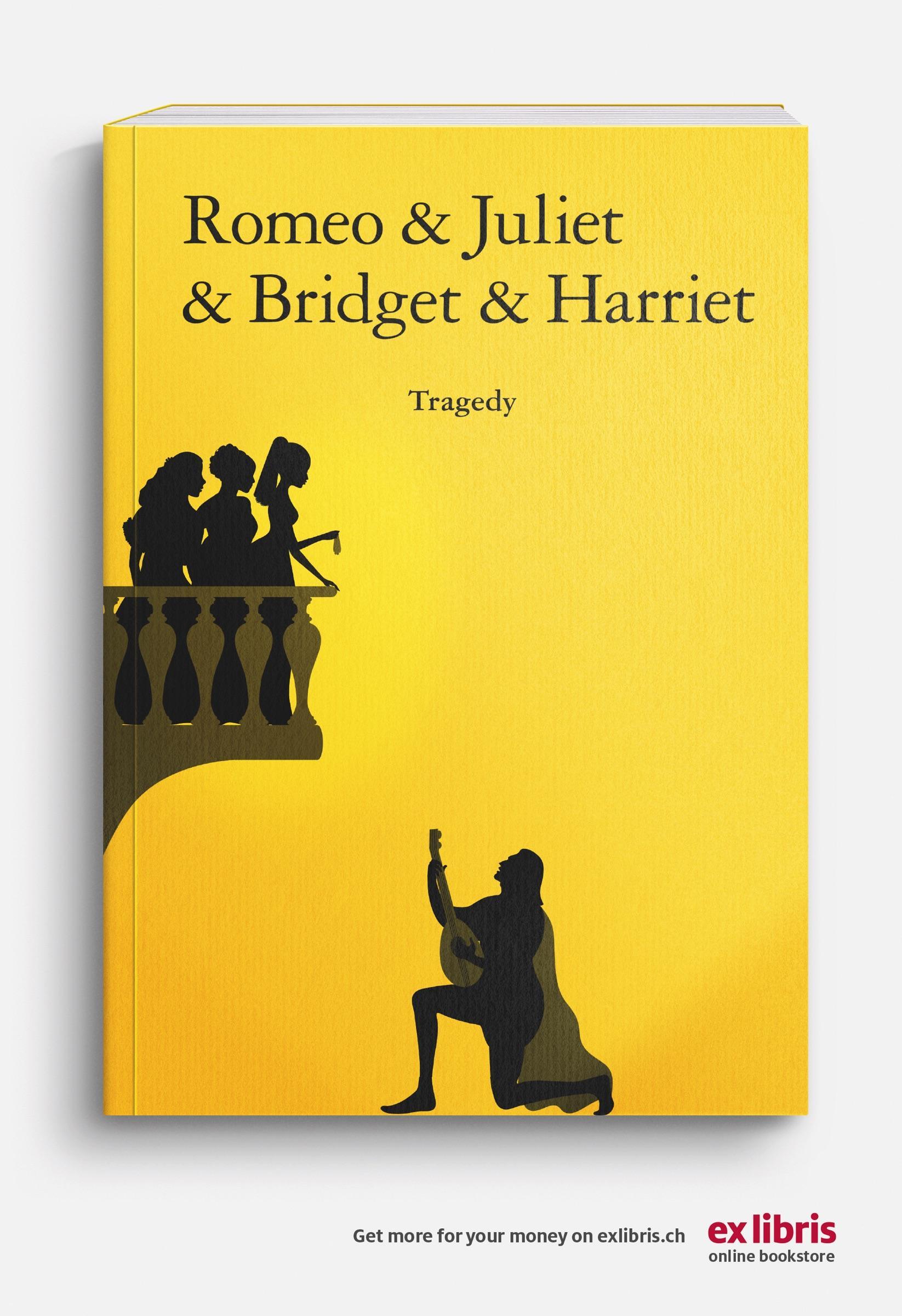 Ex Libris Print Ad - Romeo & Juliet & Bridget & Harriet