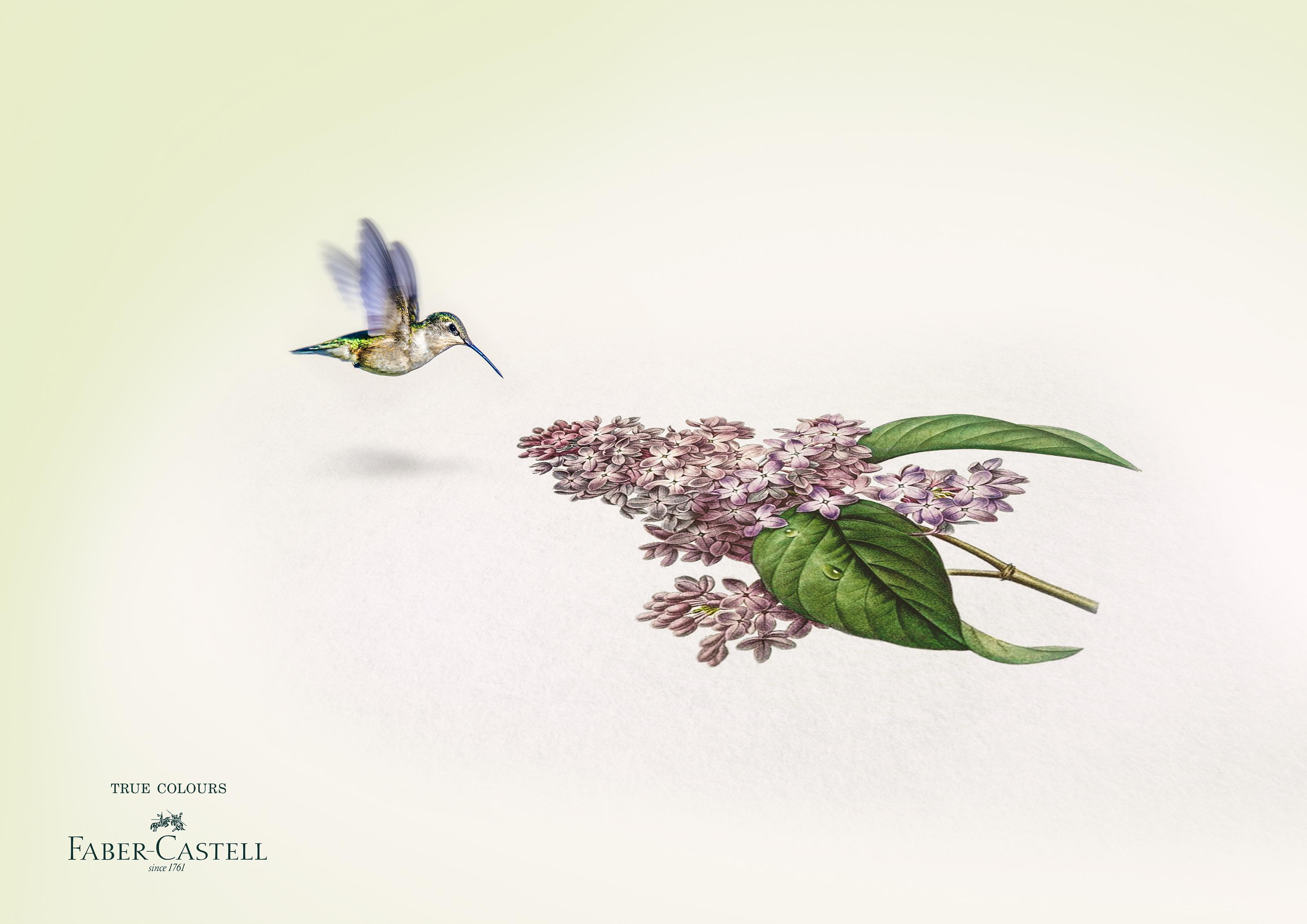 Faber-Castell Print Ad - True Colors - Pollinator