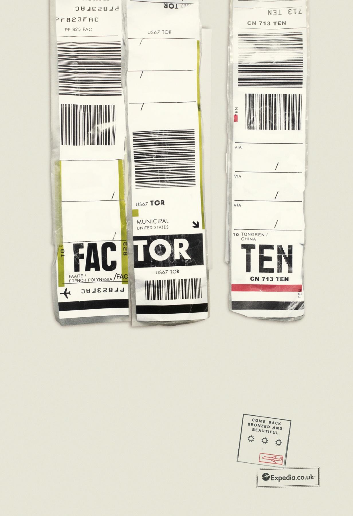 Expedia Print Ad -  FAC TOR TEN