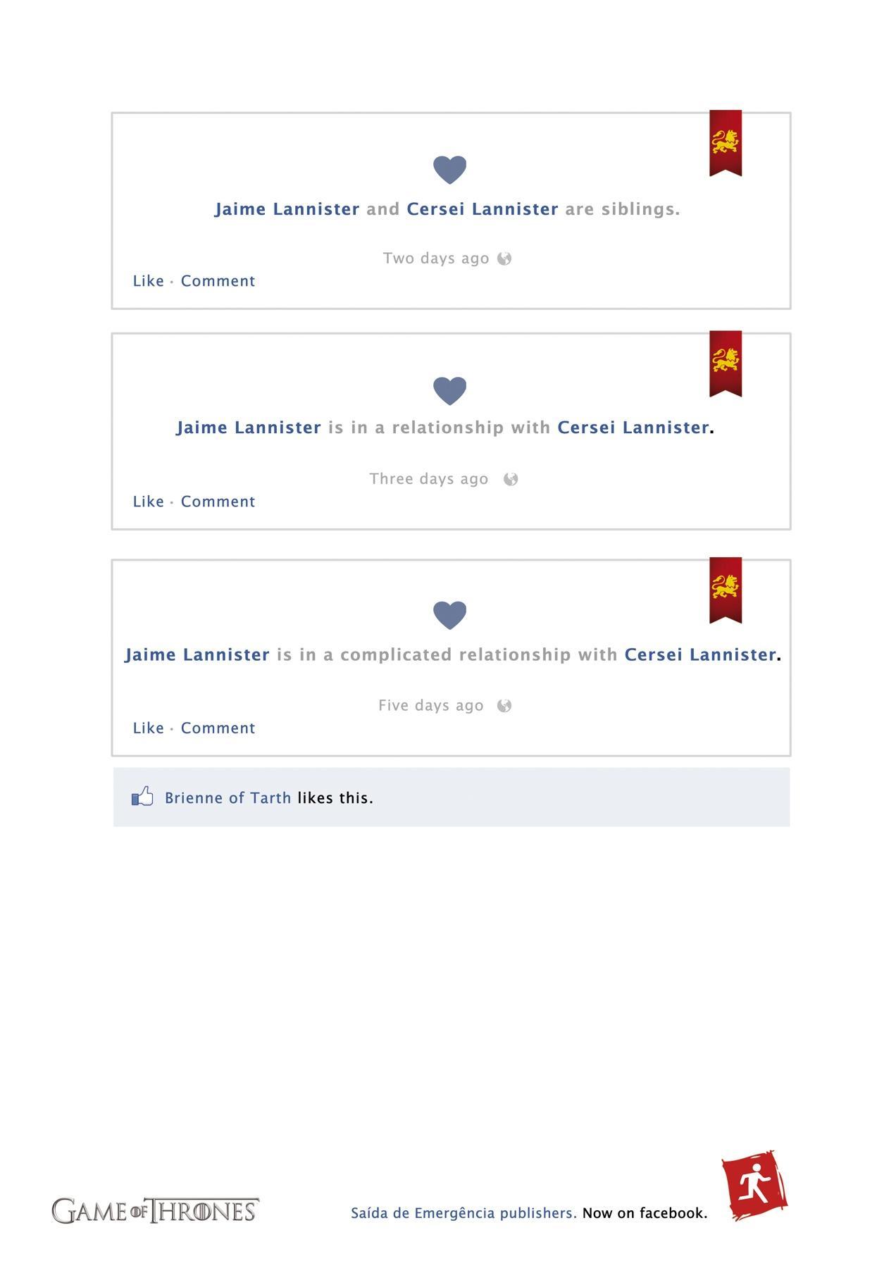 Saída de Emergência Print Ad -  Now on Facebook, 2