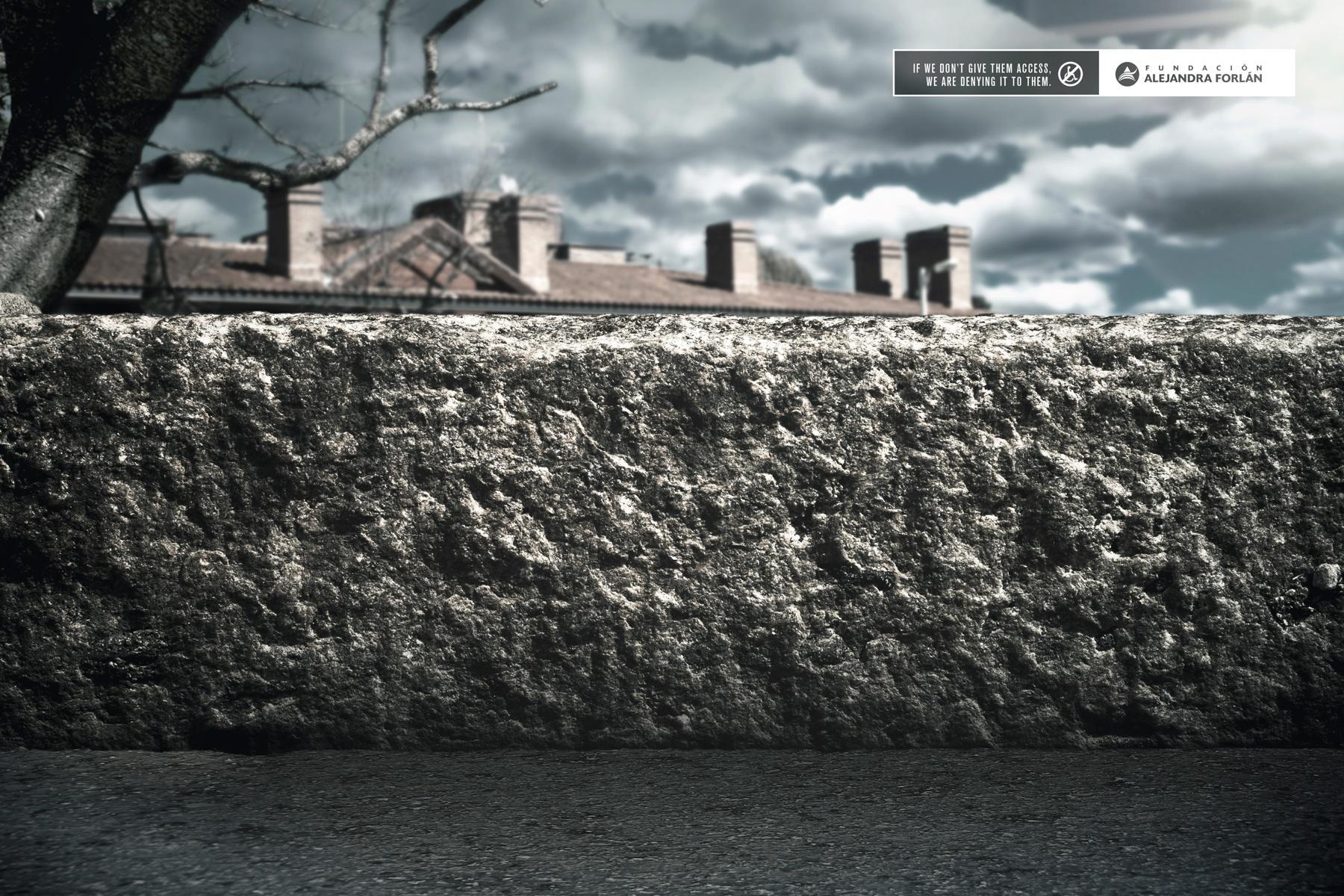 Fundación Alejandra Forlán Print Ad -  Sidewalk, 1