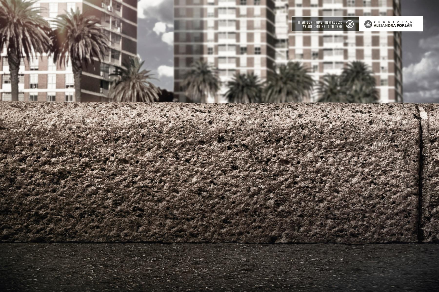 Fundación Alejandra Forlán Print Ad -  Sidewalk, 2