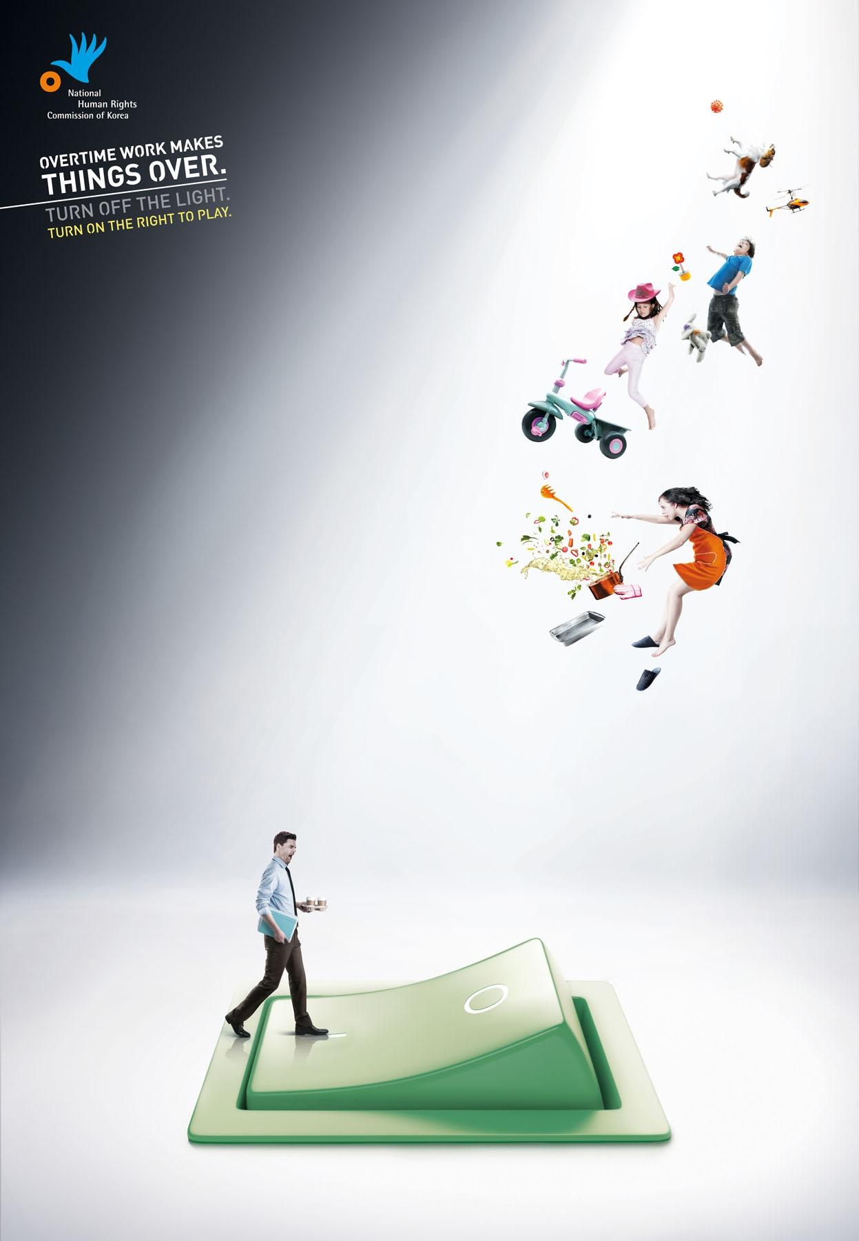 National Human Rights Commission of Korea Print Ad -  Overtime, 1