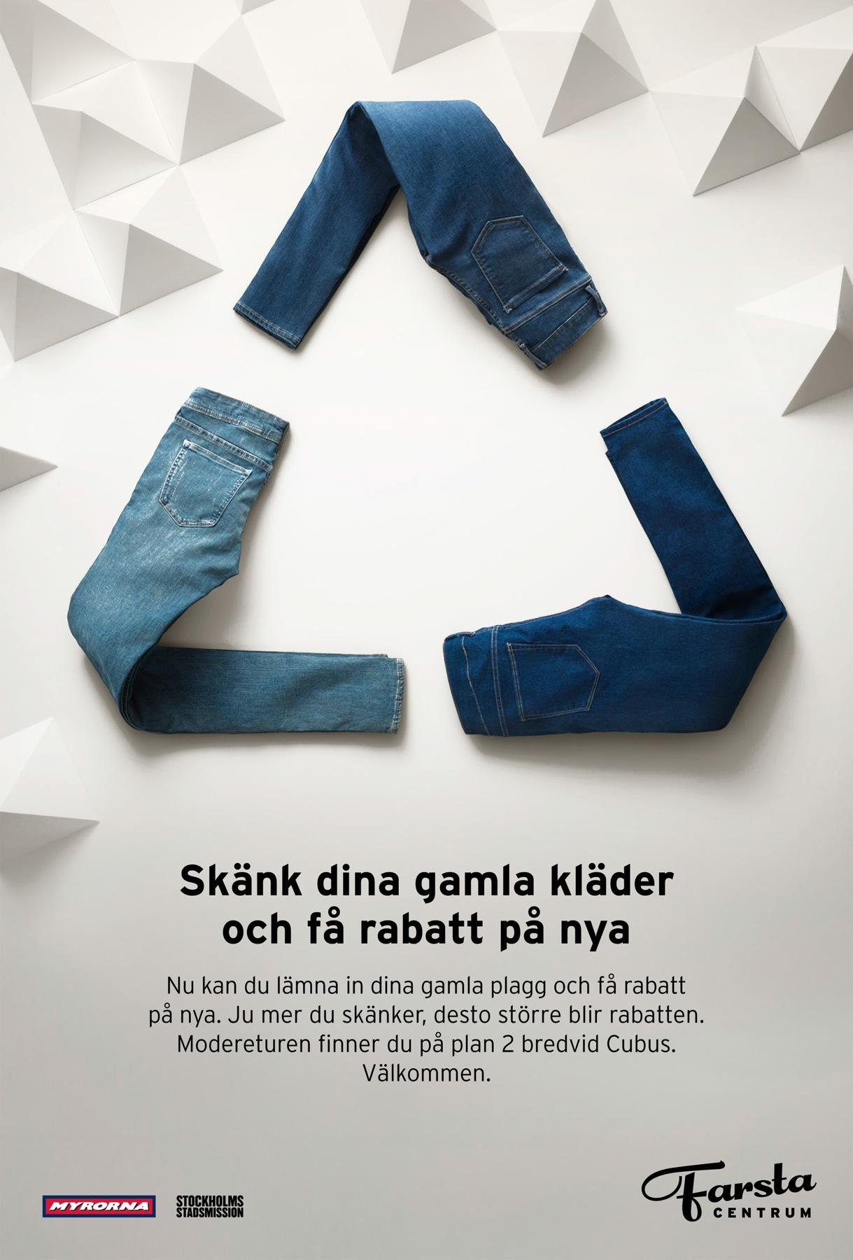 Farsta Centrum Print Ad -  Recycled fashion, 1