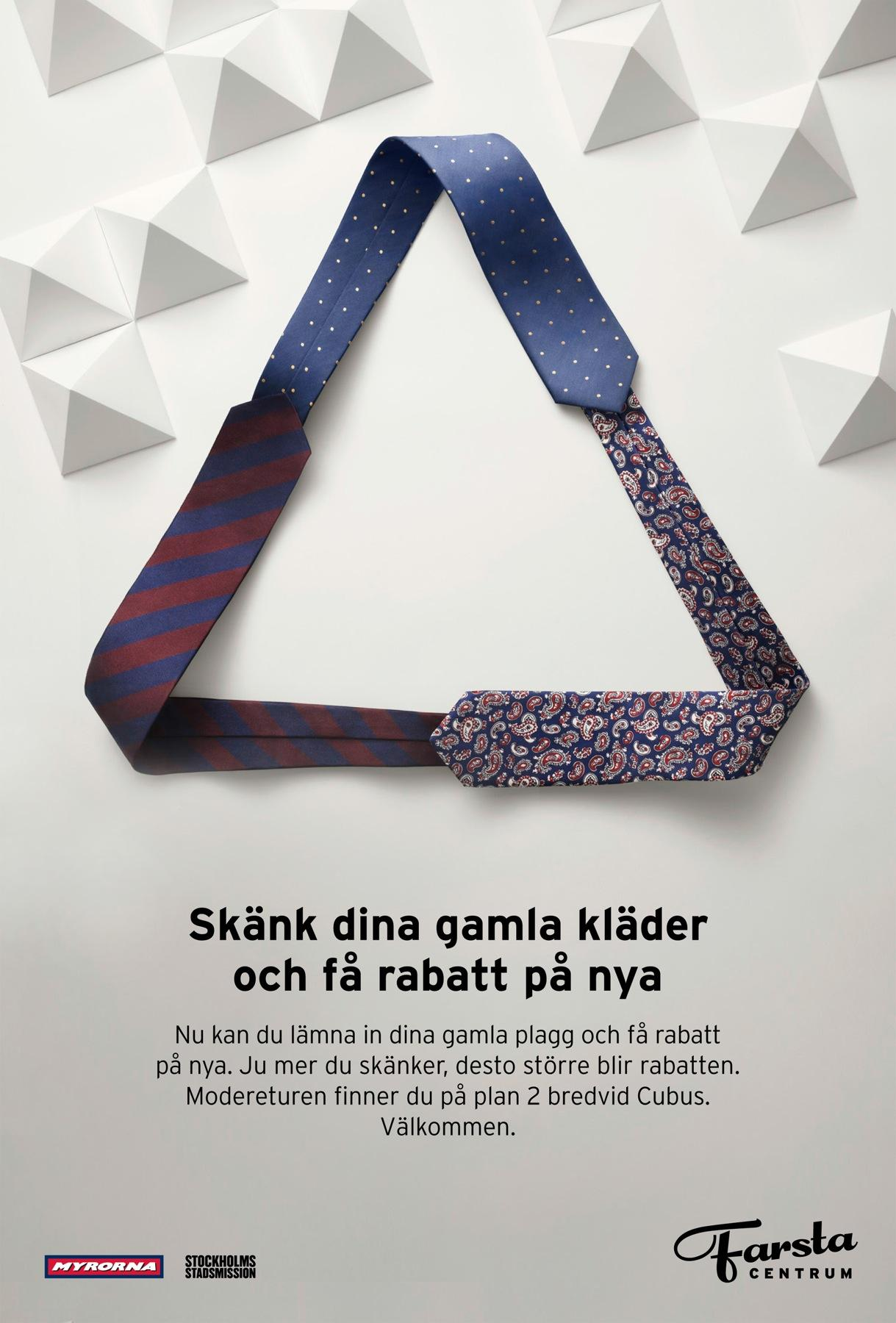 Farsta Centrum Print Ad -  Recycled fashion, 2