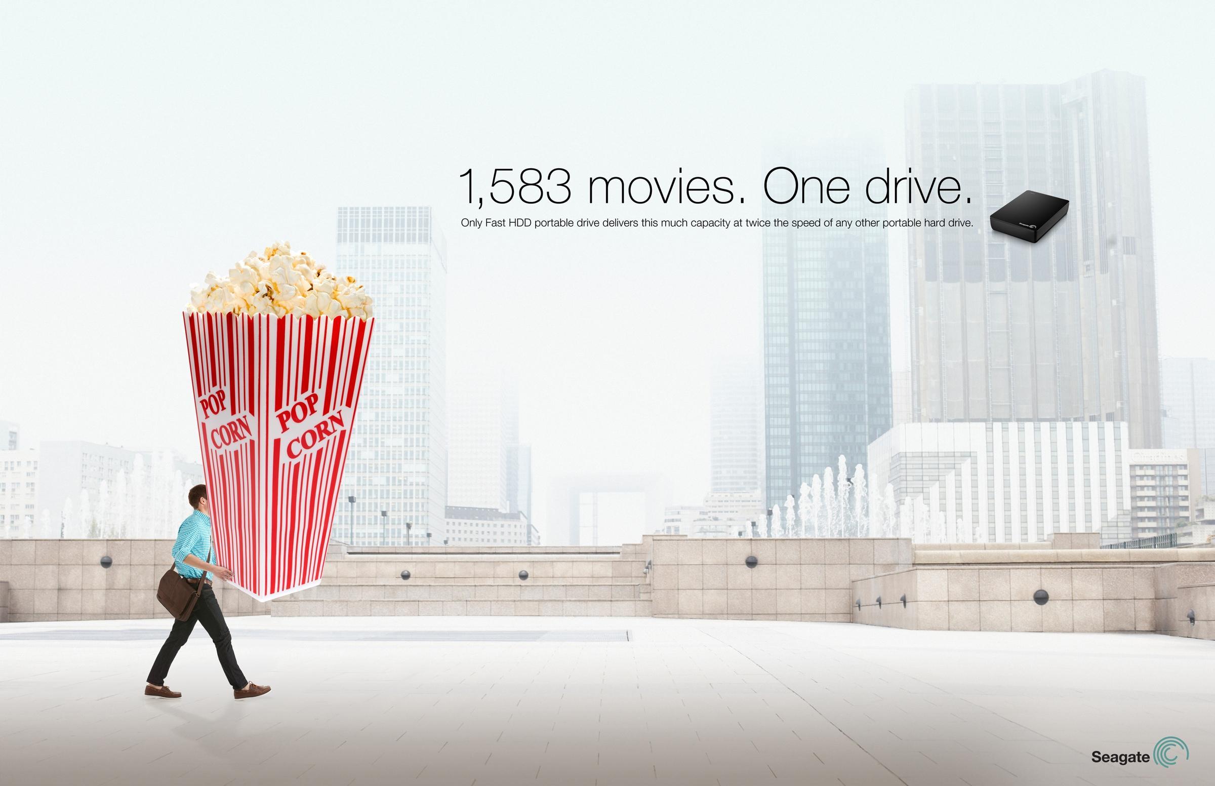 Seagate Print Ad -  Popcorn