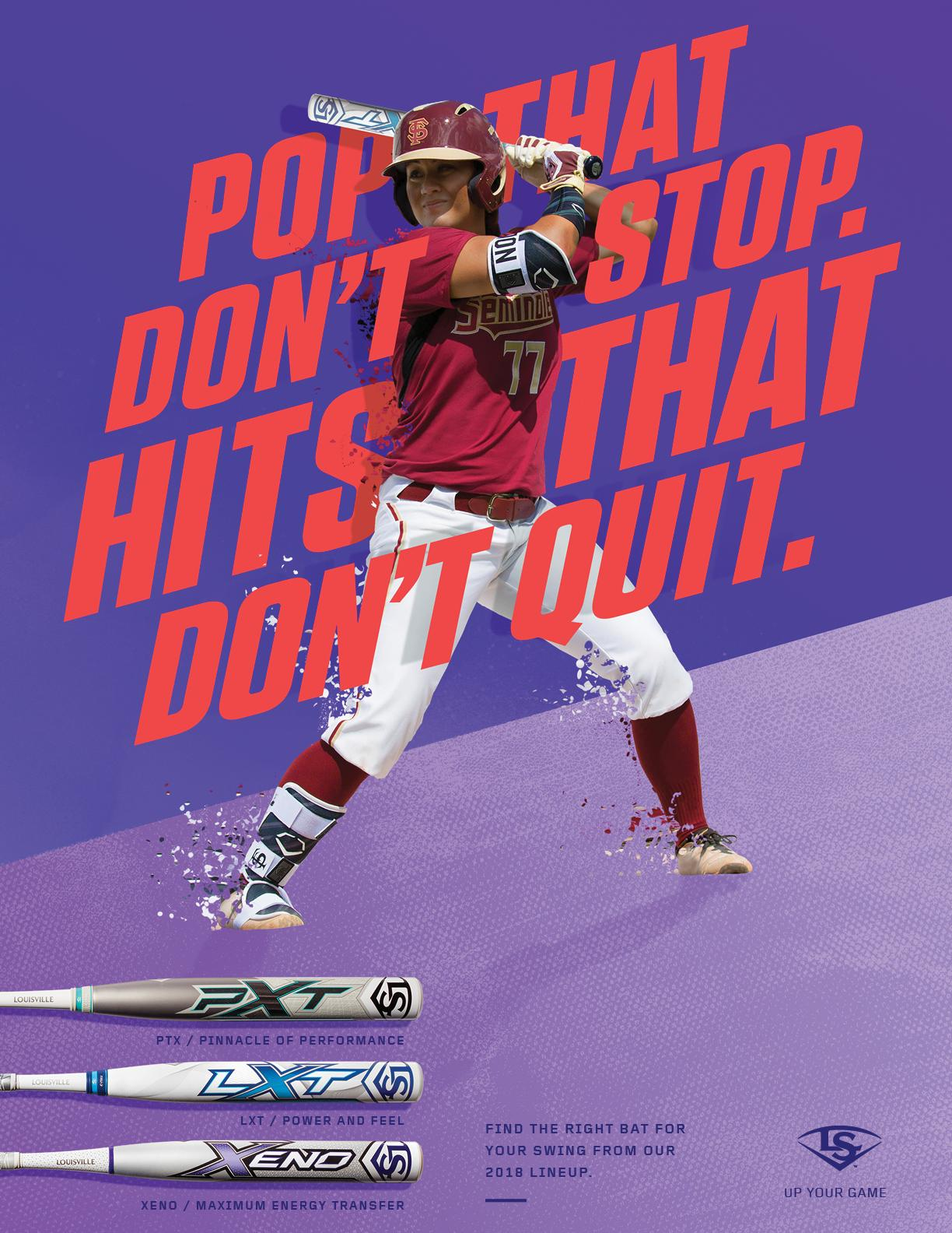 Louisville Slugger Outdoor Ad - New Lineup
