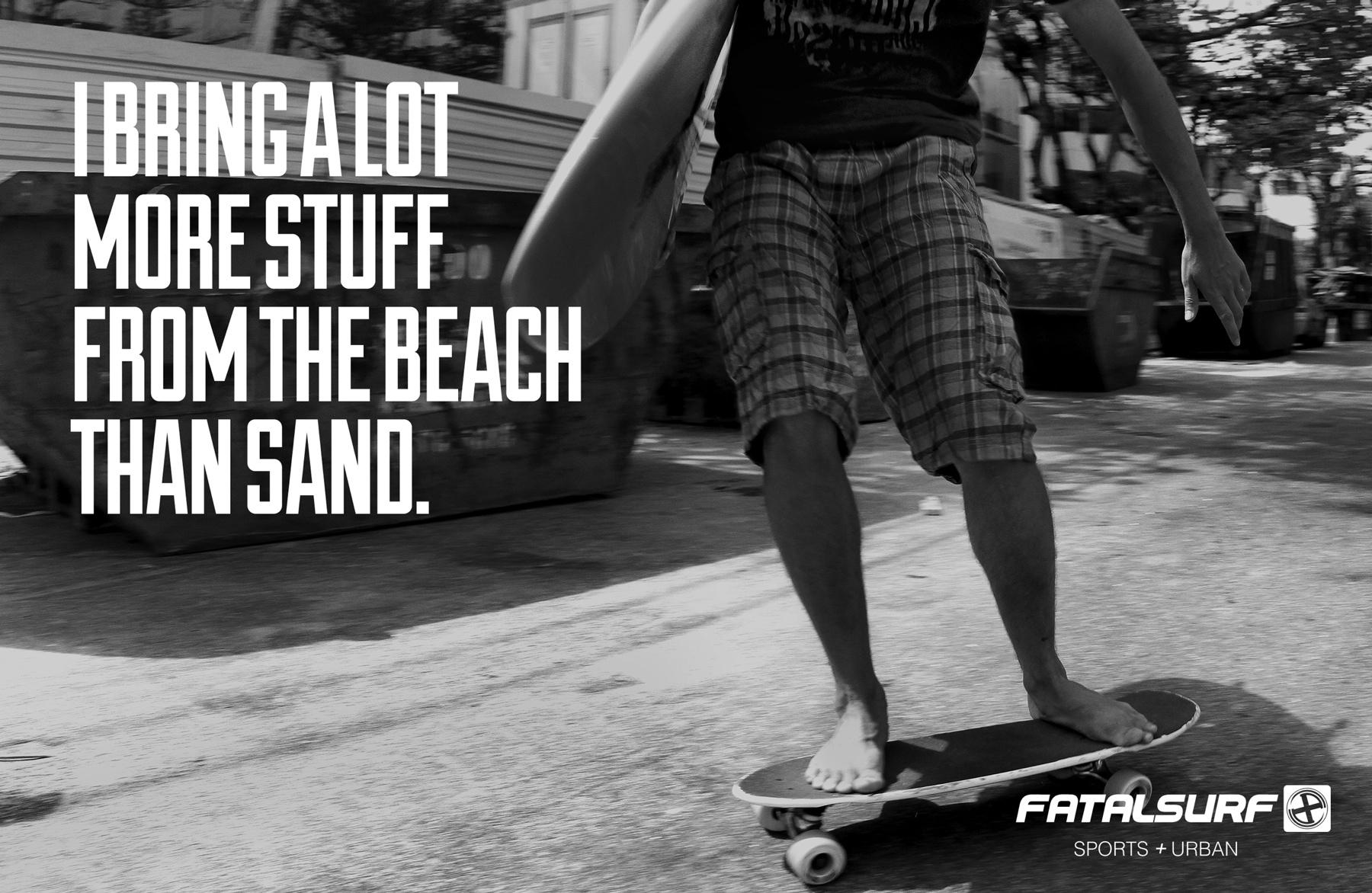 Fatal Surf Print Ad -  Sand
