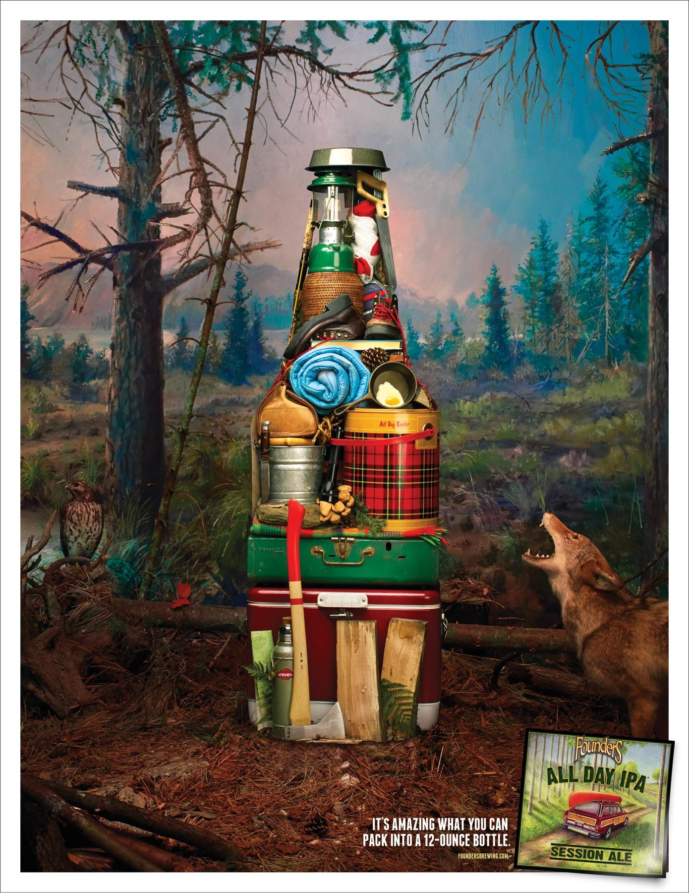 Founders Brewing Print Ad -  All Day Camping